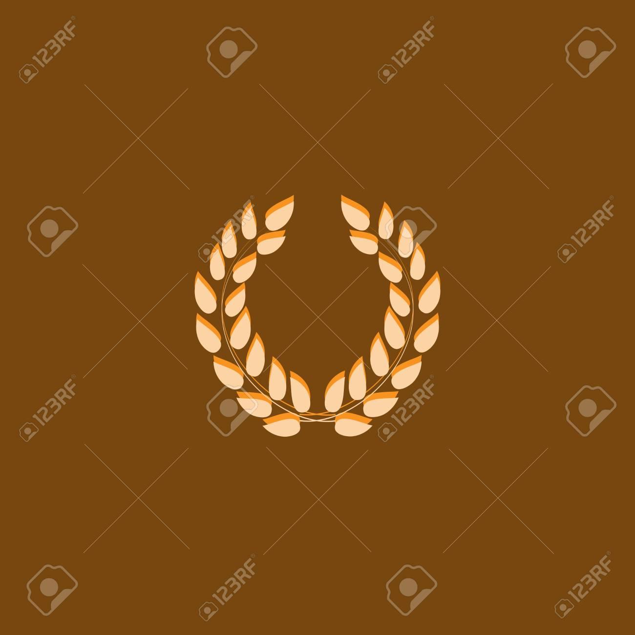 Recompensa Corona De Laurel. Símbolo Moderno De La Victoria Y ...