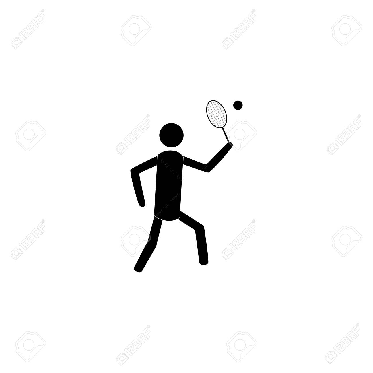 Sports. Tennis icon. Silhouette emblem tournament. Logo professional sports, active recreation and leisure. - 150071807