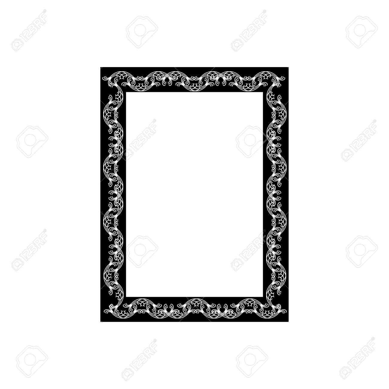 Frame with wavy line. Fashion graphic background design. Modern stylish abstract texture. Monochrome template for prints, textiles, wrapping, wallpaper, website. Design element. Vector illustration - 149912792