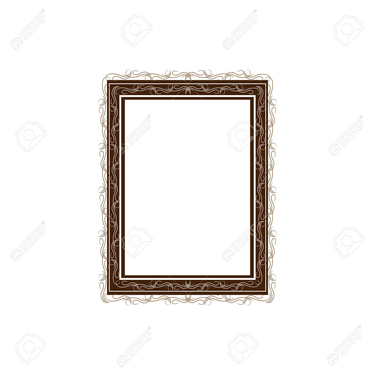 Frame with wavy line for pfoto. Vector. - 160002154