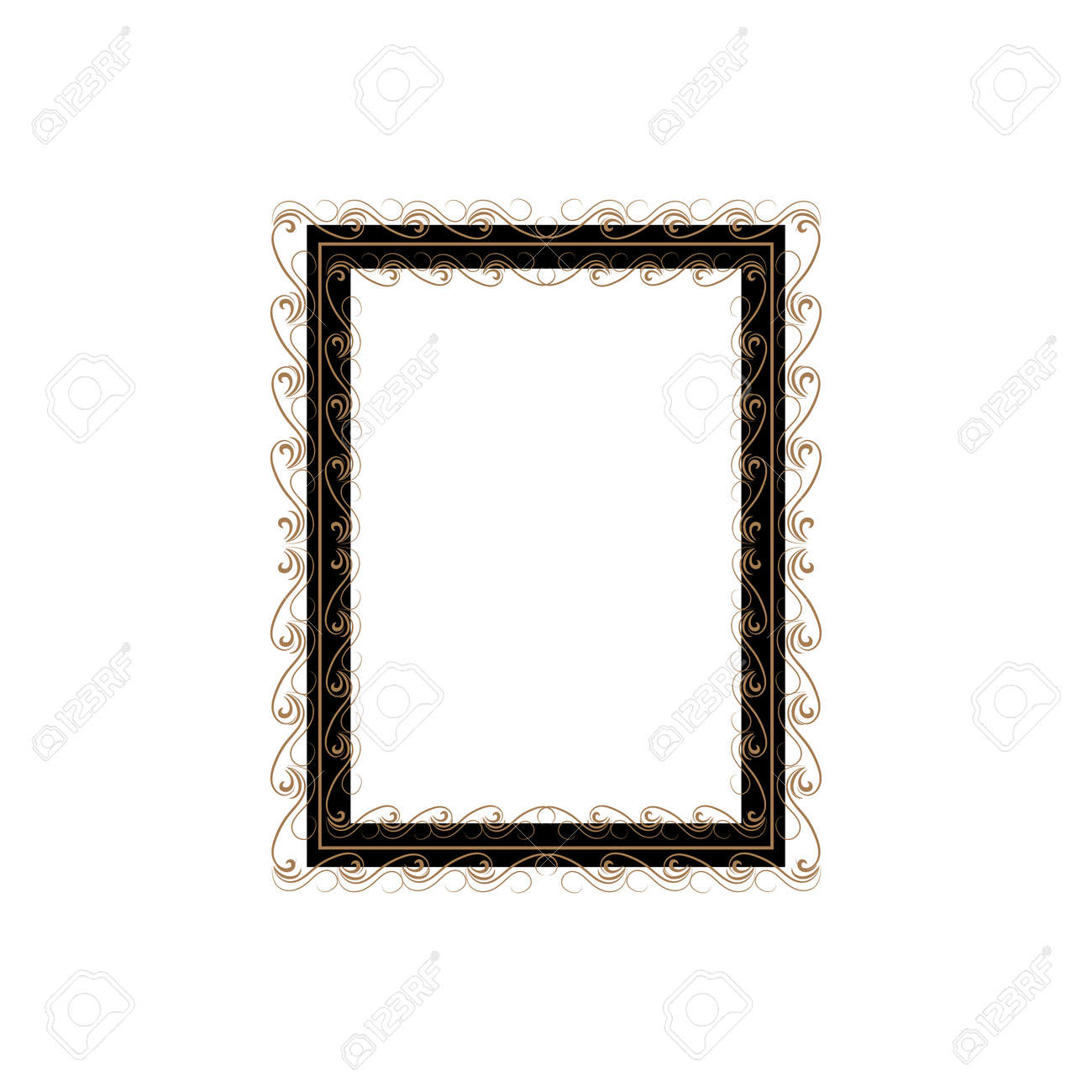 Frame with wavy line for pfoto. Vector. - 160002157