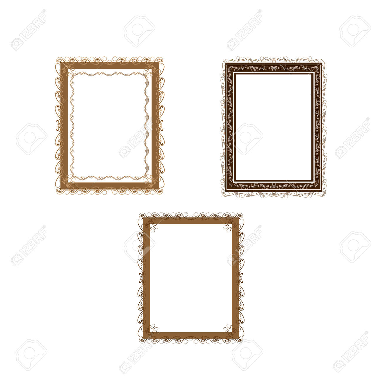 Frame with wavy line for pfoto. Vector. - 159702363