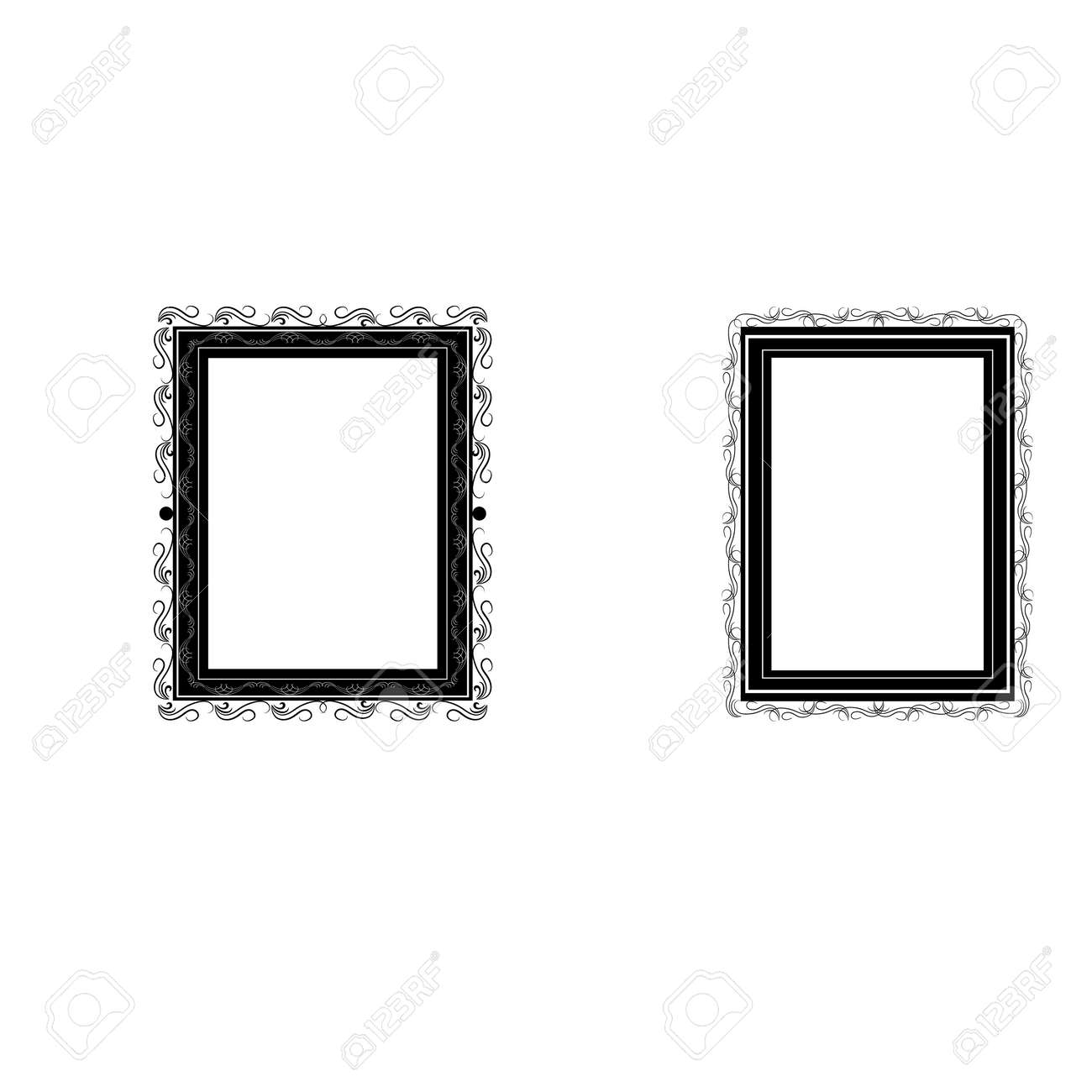 Frame with wavy line for pfoto. Vector. - 159702364