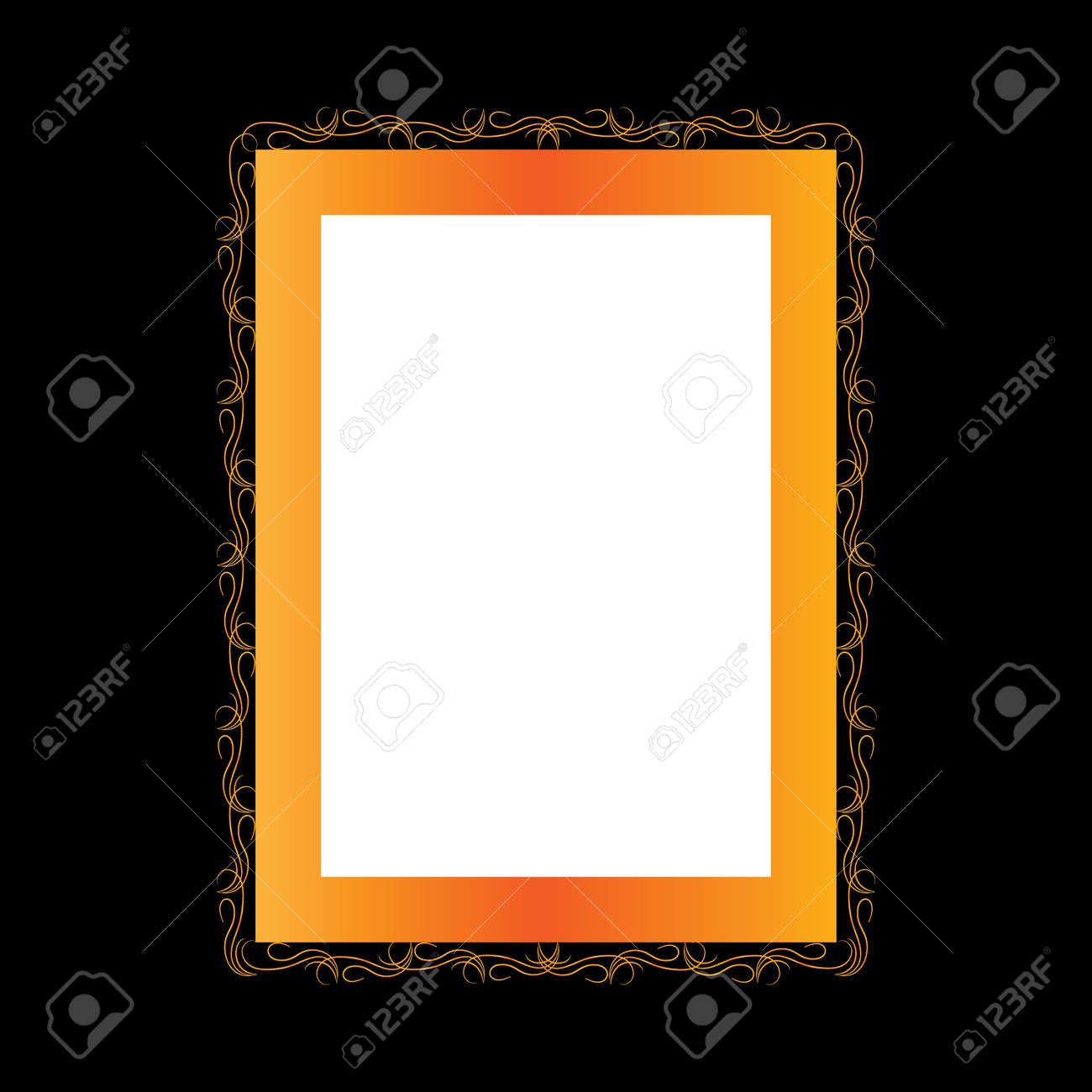 Frame with wavy line for pfoto. Vector. - 159702365