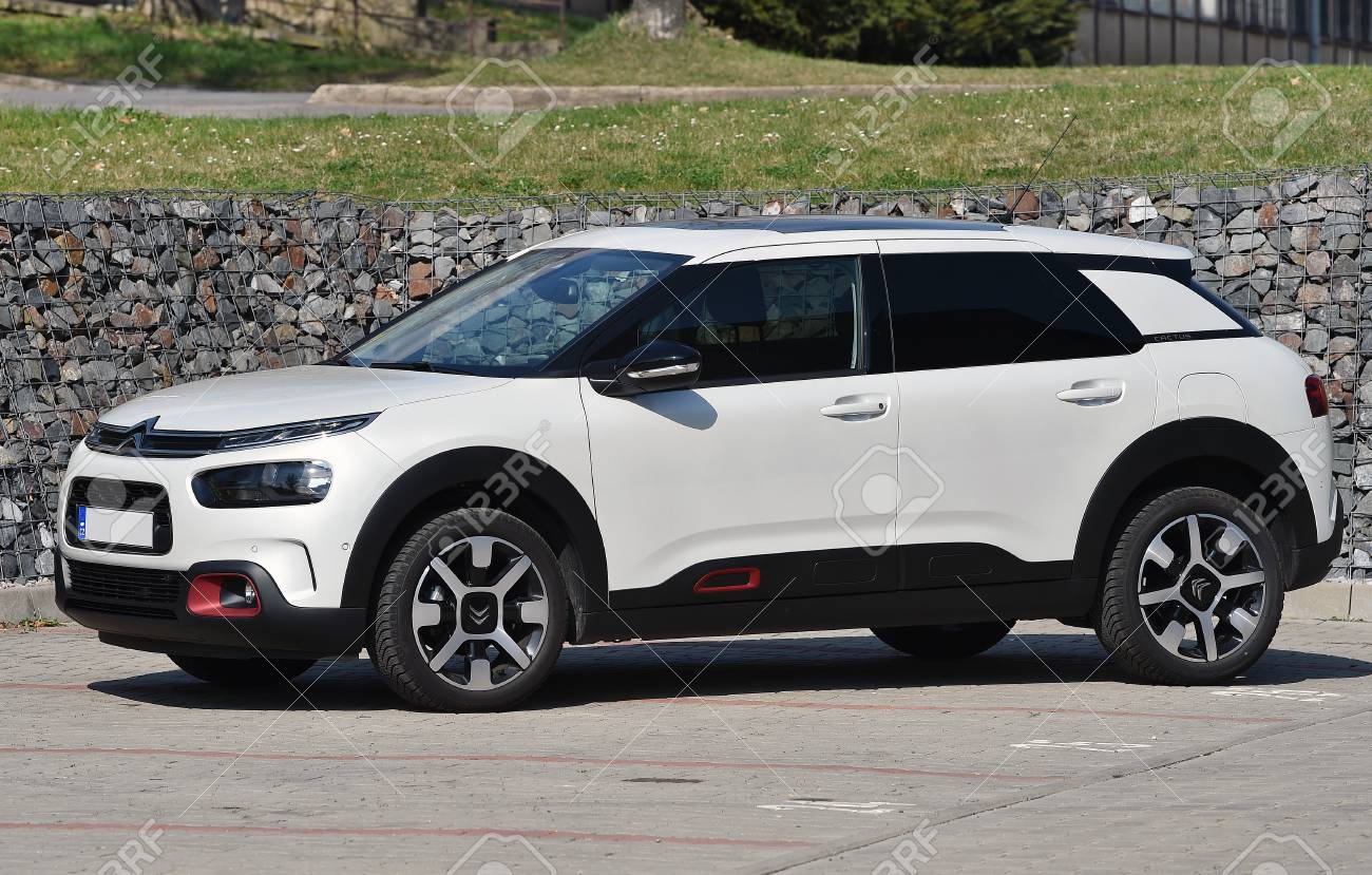 Citroen C4 Cactus >> Prague Czech Republic April 11 2018 White Citroen C4 Cactus
