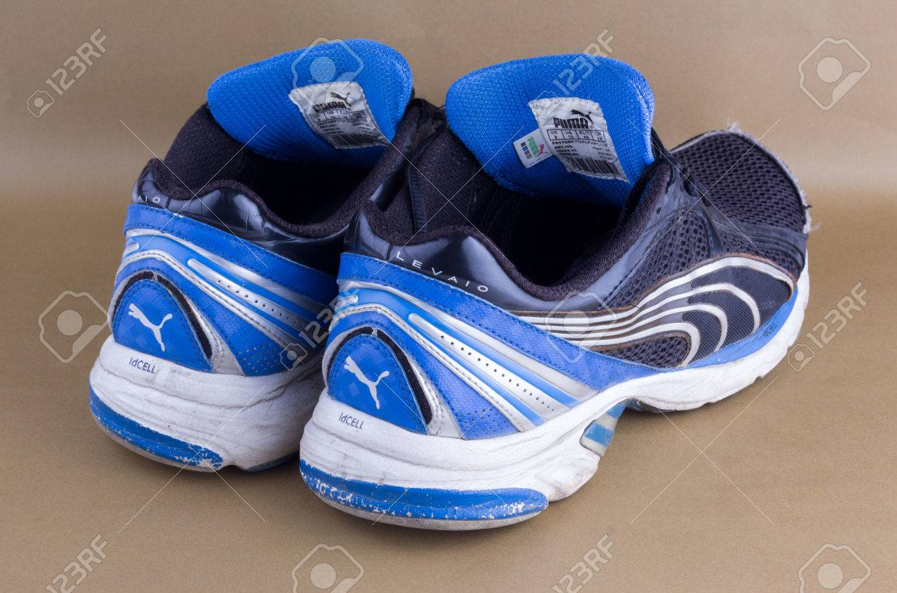 Old Puma Sport Shoes Stock Photo