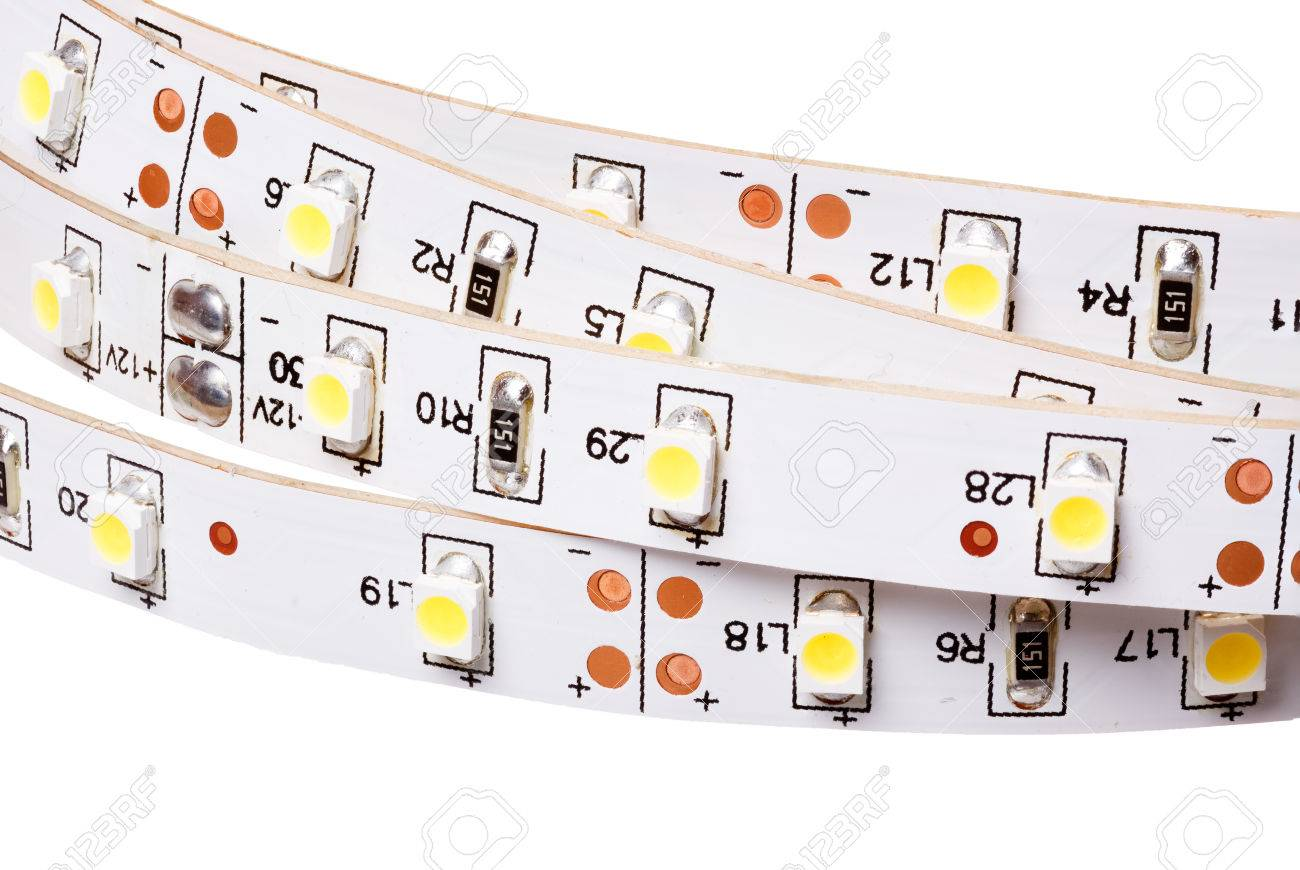 SMD LEDs On White PCB, LED Stripes, Commercial And Industrial ...