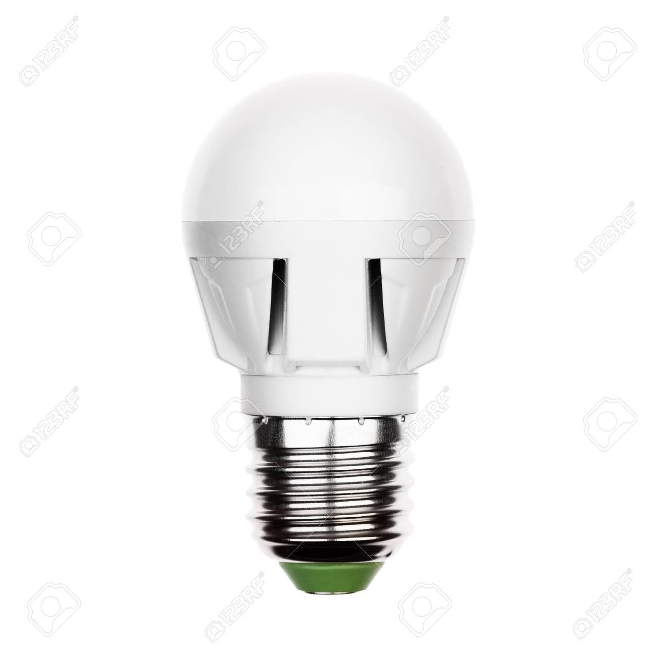 Blanc D'énergie Isolé Sur Petite Un LedlampeAvec E27 Économie Ampoule Douille À PiTOZkuX