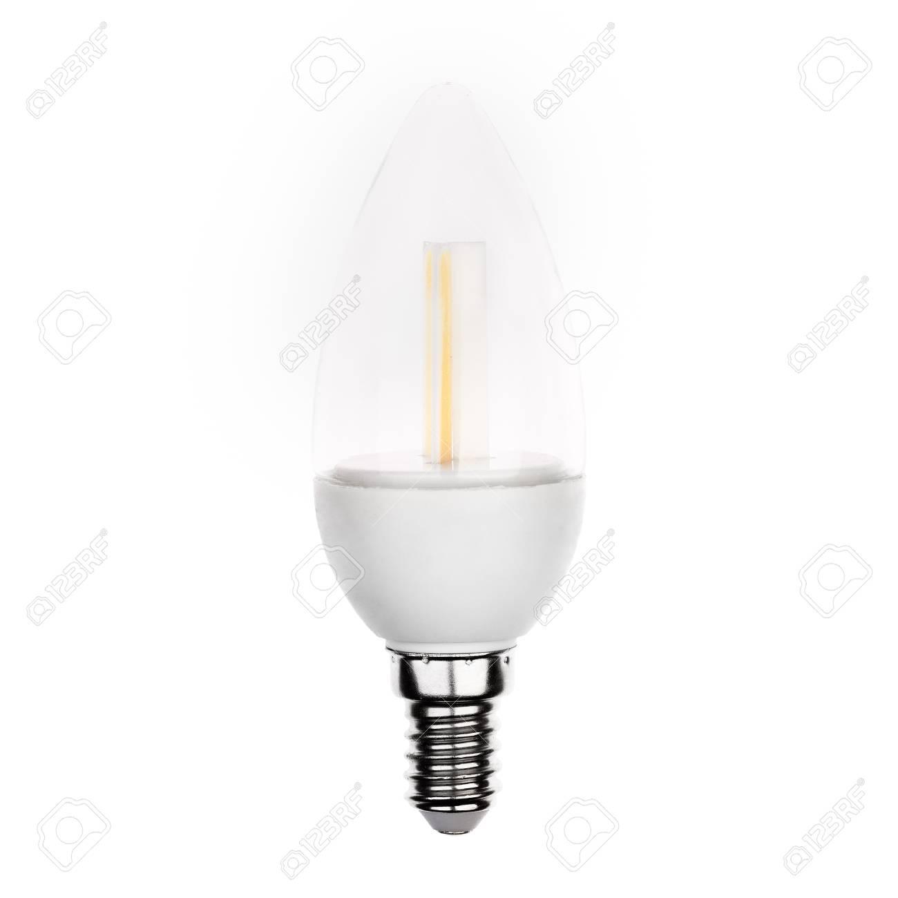 Led Geïsoleerd Wit Kaars Op Vorm Reflecteren En Wordt Nieuwste Lamp In De OmN8nv0w