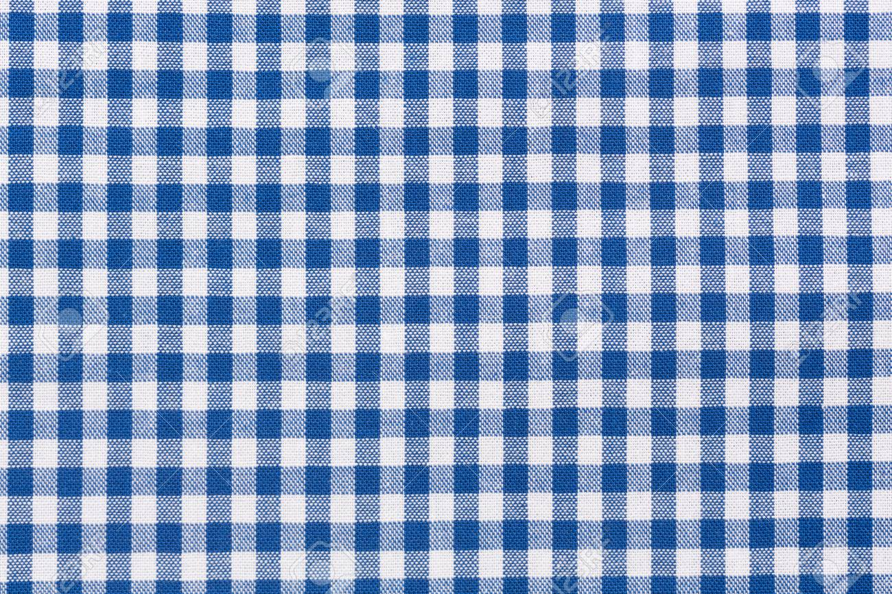 Delicieux Background Of Blue And White Checkered Tablecloth. Stock Photo   65549342