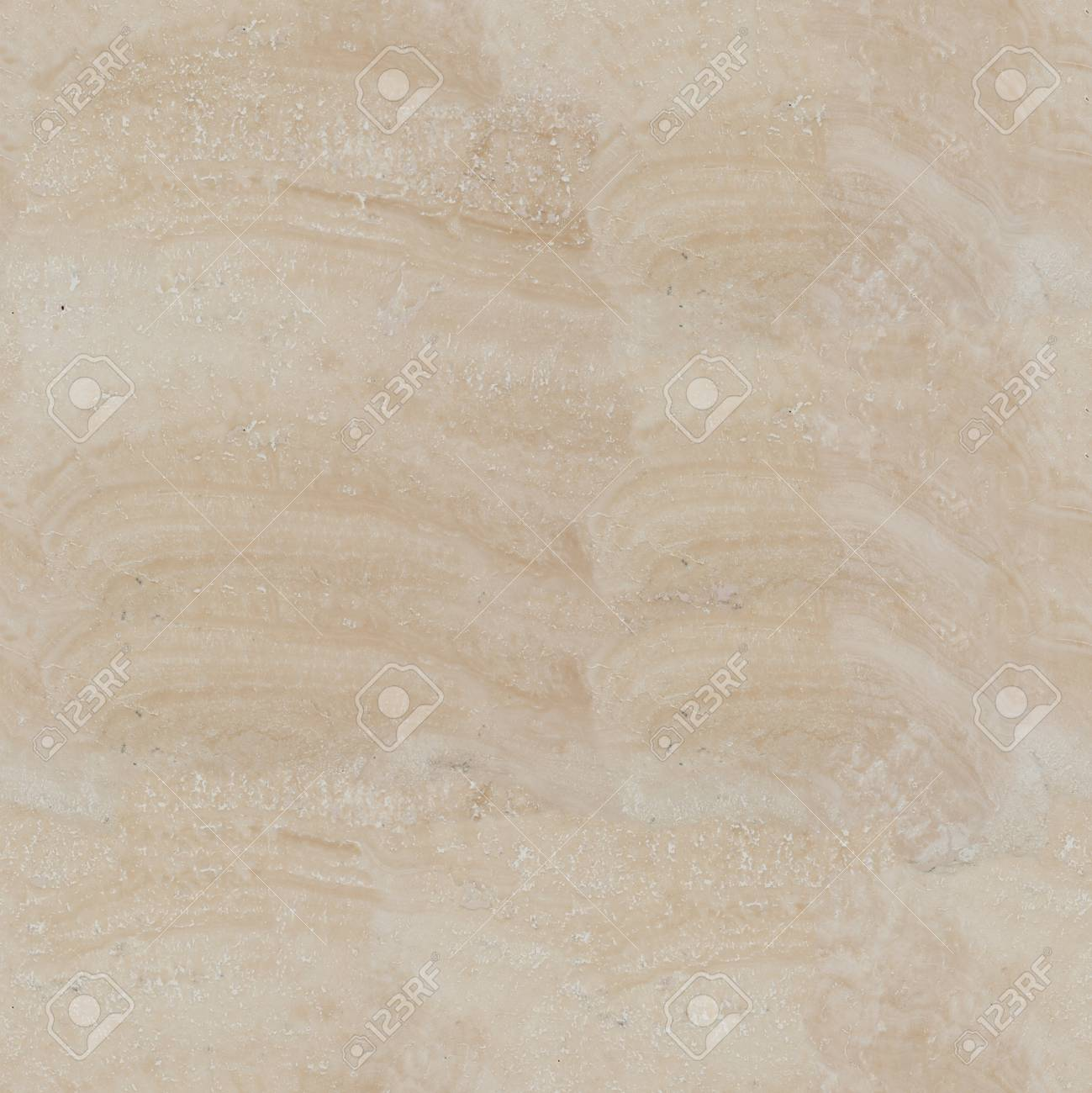 Travertine Beige Color Texture Seamless Square Background Tile Ready High Resolution Photo