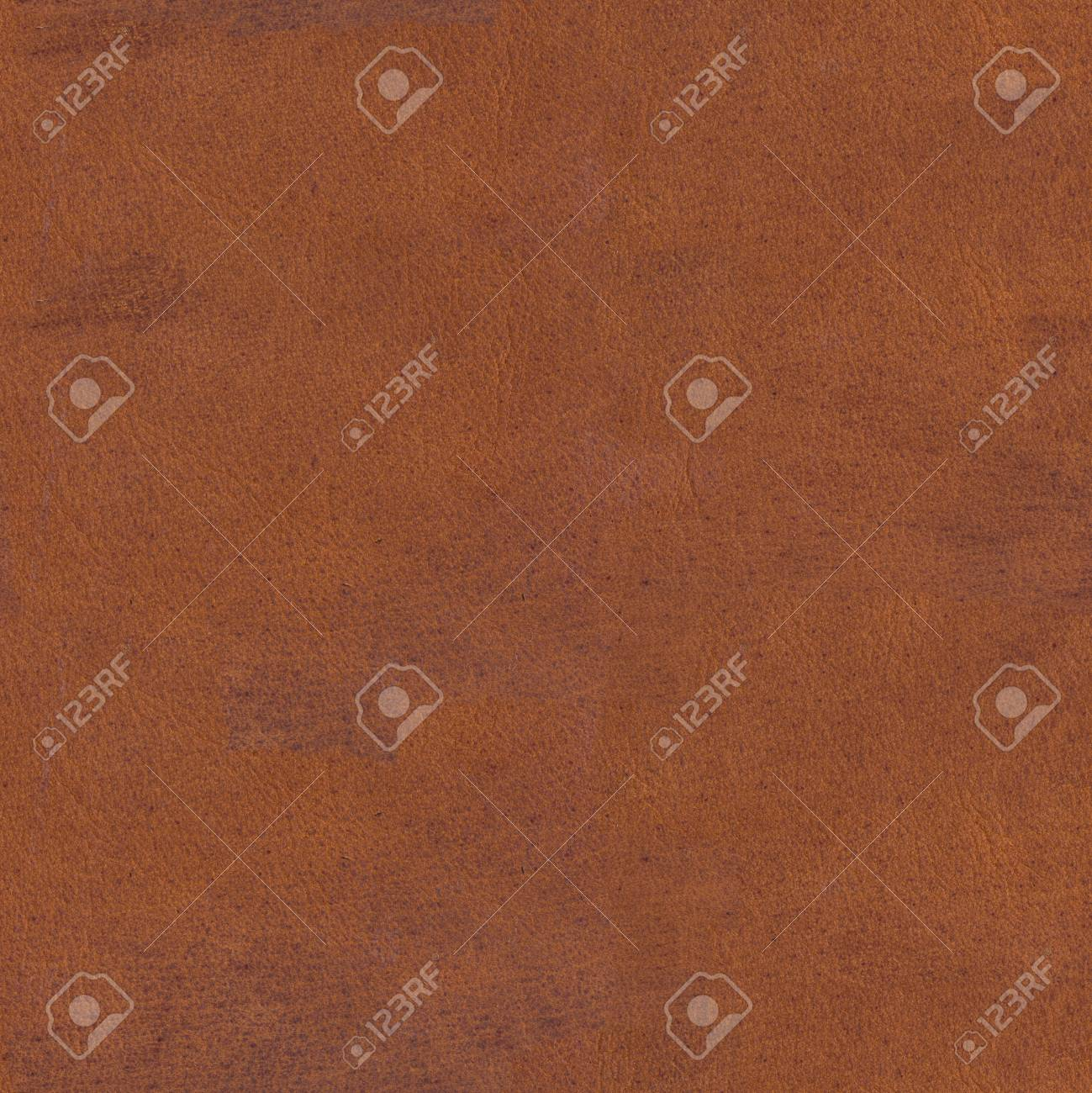 Old brown scratched leather texture. Seamless square background, tile ready. High resolution photo. - 80617221