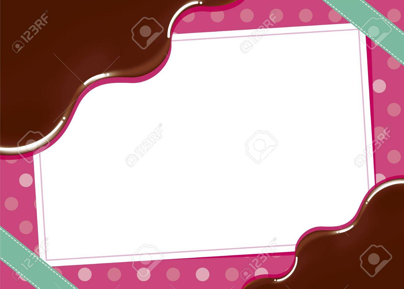 Cute Frame Of Chocolate Royalty Free Cliparts, Vectors, And Stock ...
