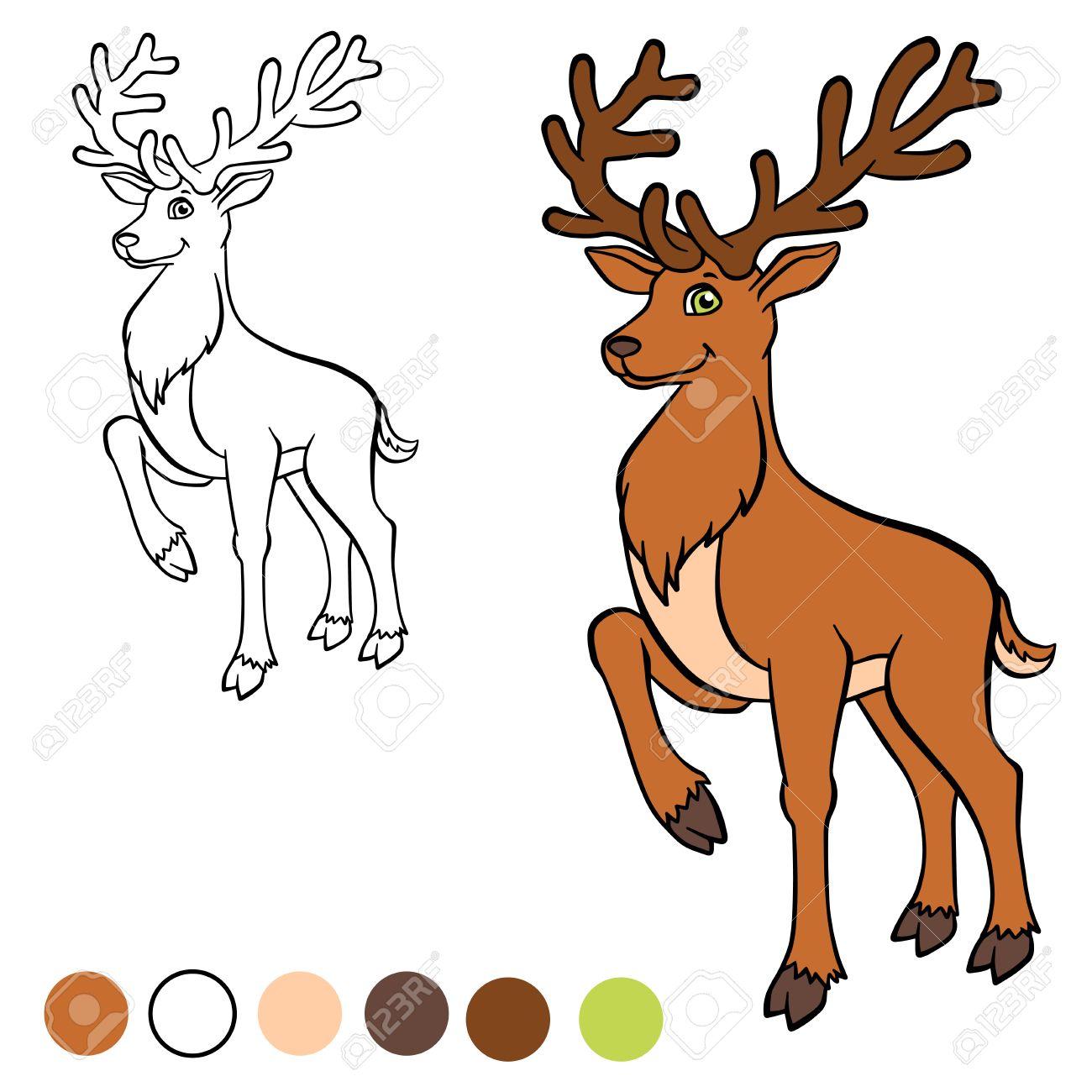 Dibujos De Ciervos Para Colorear. Awesome. Free. Dibujo Para ...
