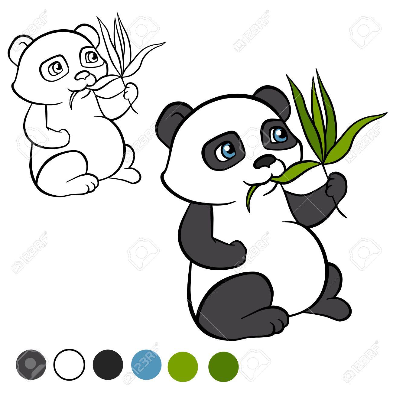 Increíble Lindo Oso Panda Para Colorear Molde - Enmarcado Para ...