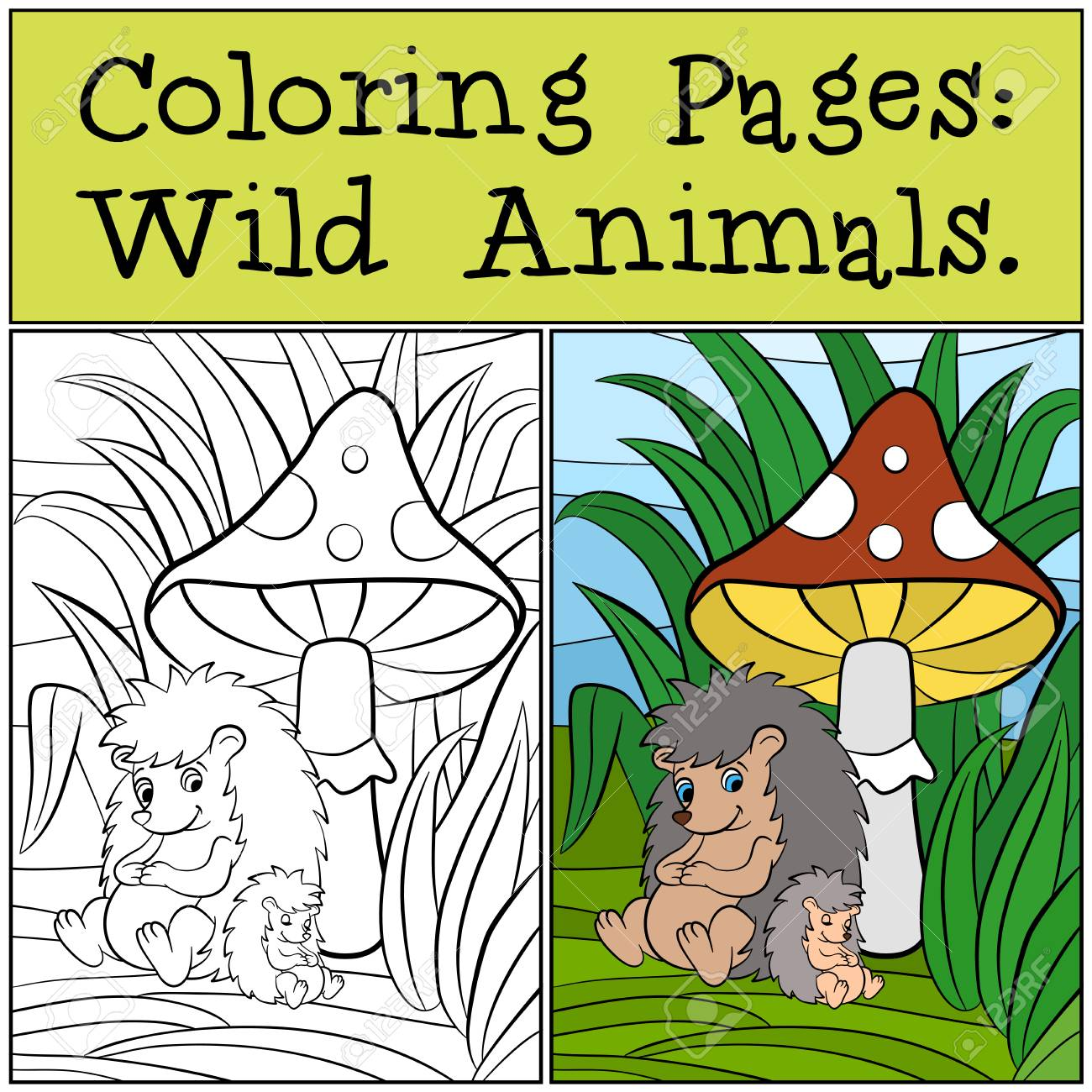 Cute Little Animal Coloring Pages : Printable Coloring Sheet ... | 1300x1300