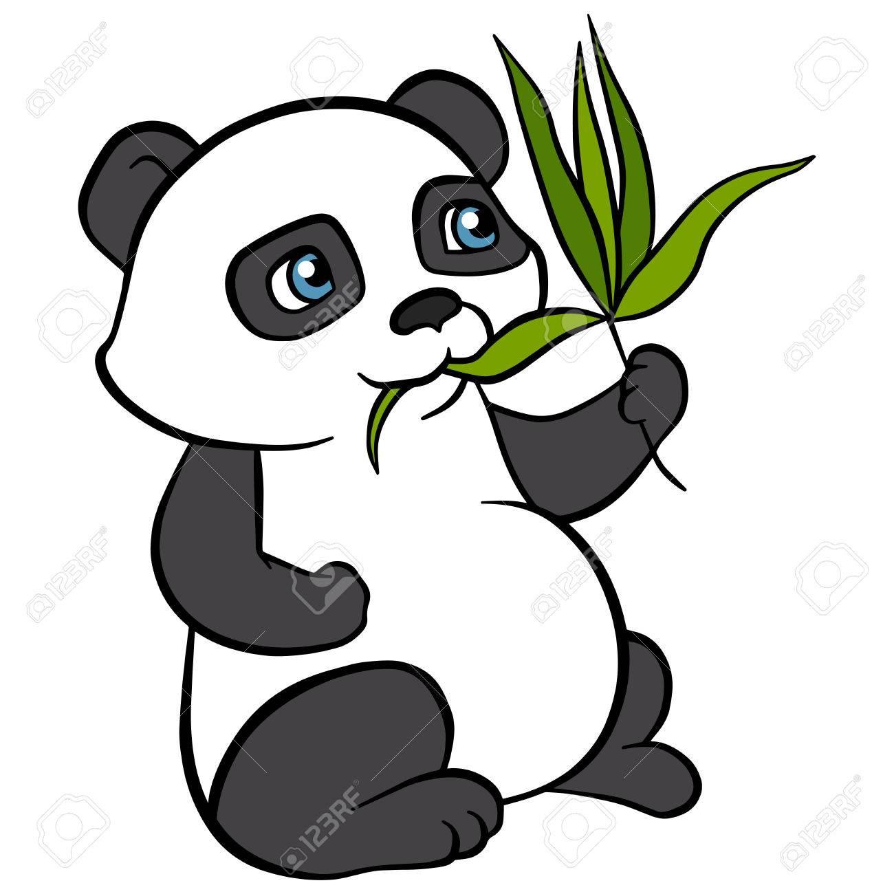 Wils De Dibujos Animados Animales Para Los Ninos Pequeno Panda