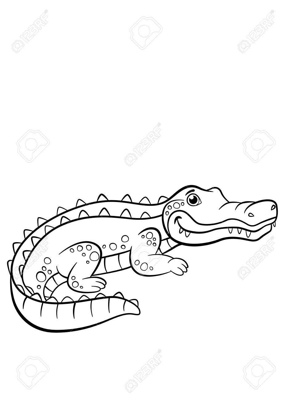 Vettoriale Disegni Da Colorare Animali Piccoli Sorrisi
