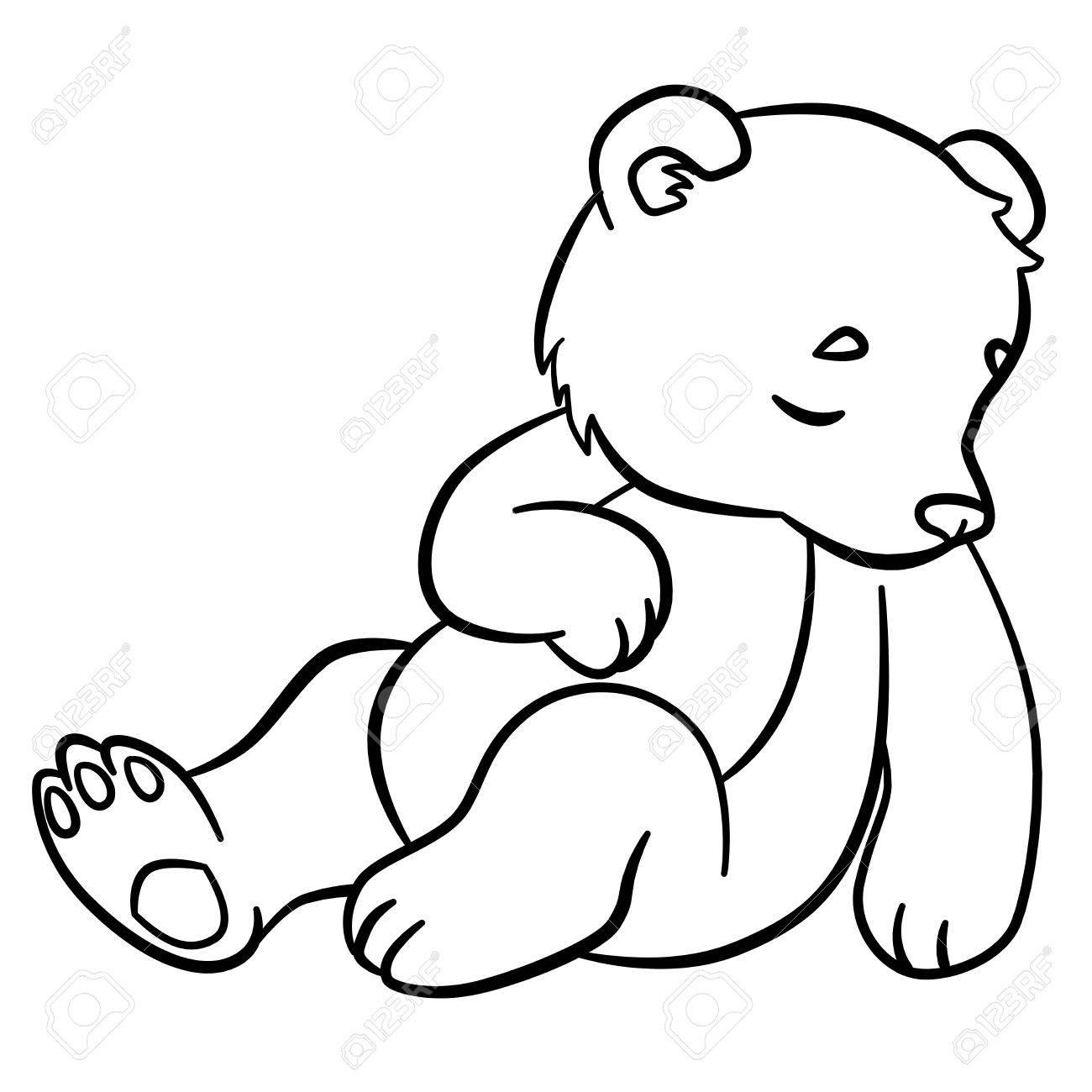 Vettoriale Disegni Da Colorare Animali Selvaggi Little Baby