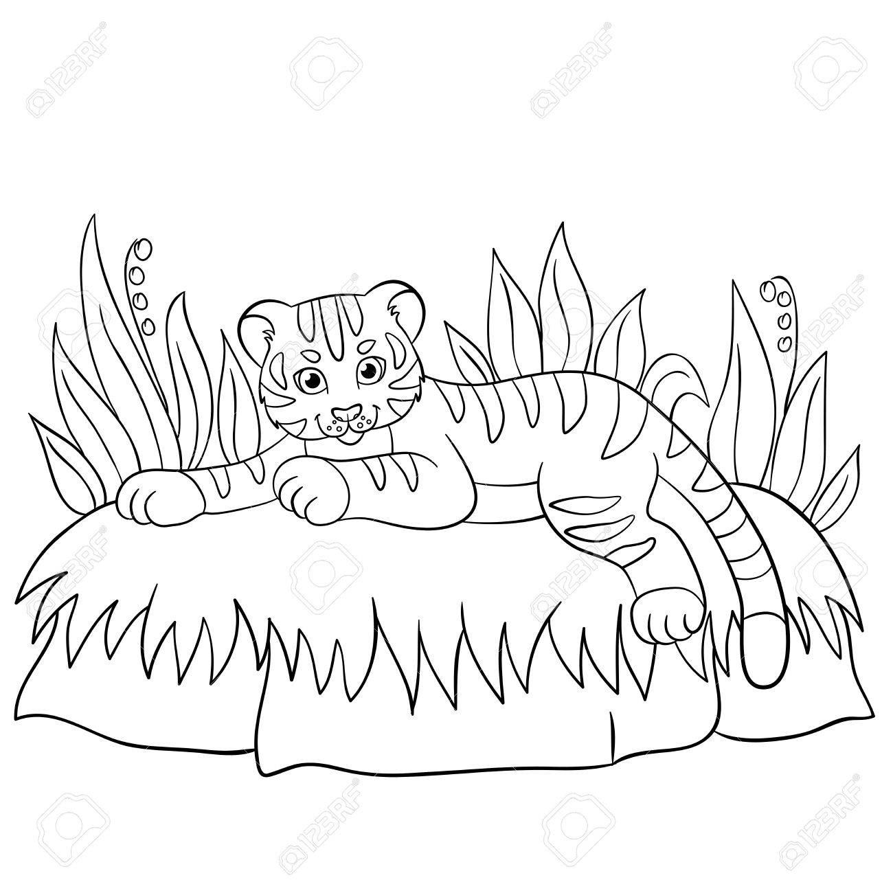 Lujo Lindo Bebé Animal Para Colorear Páginas Dragoart Festooning ...