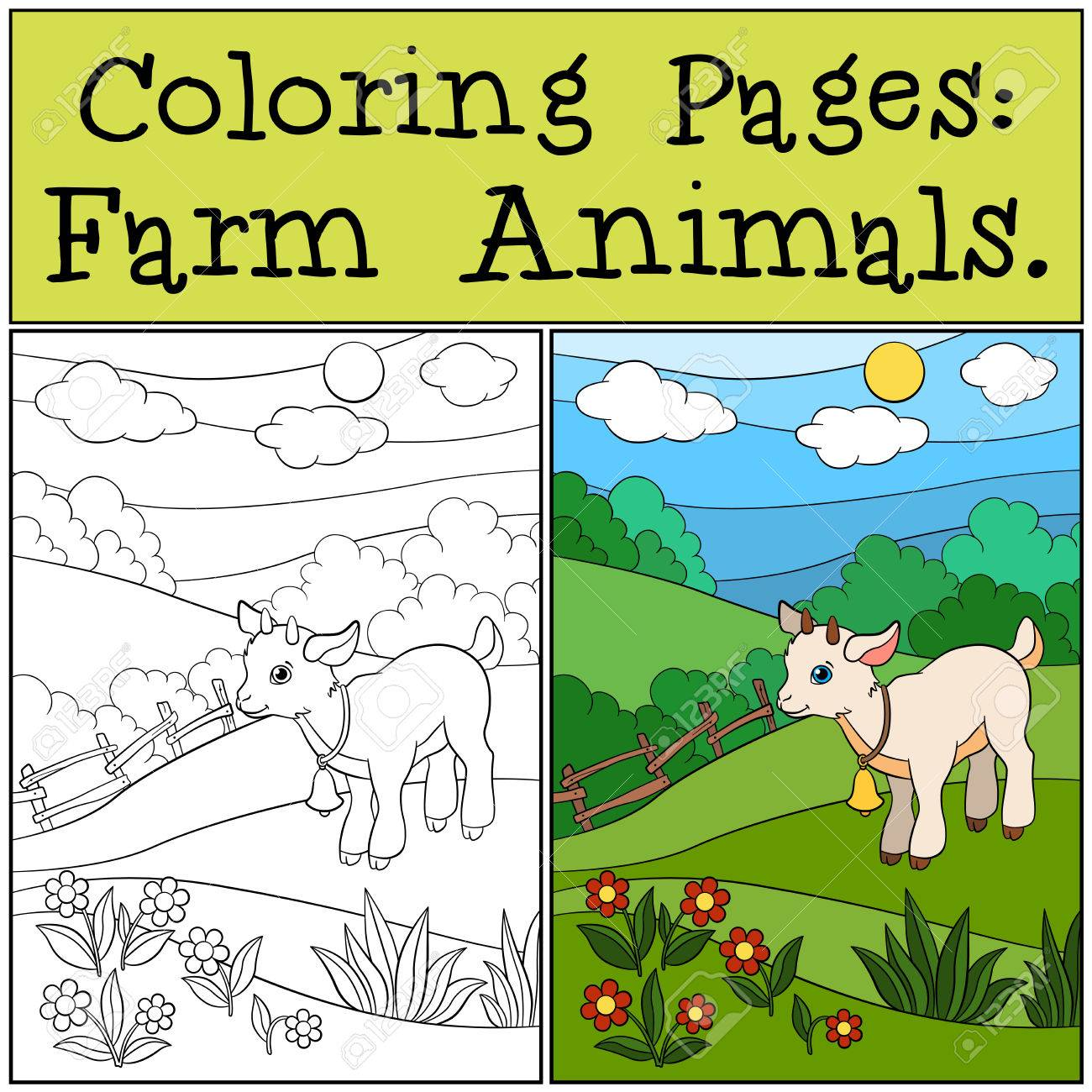 Vistoso Lindas Páginas Para Colorear De Animales Bebé Viñeta ...