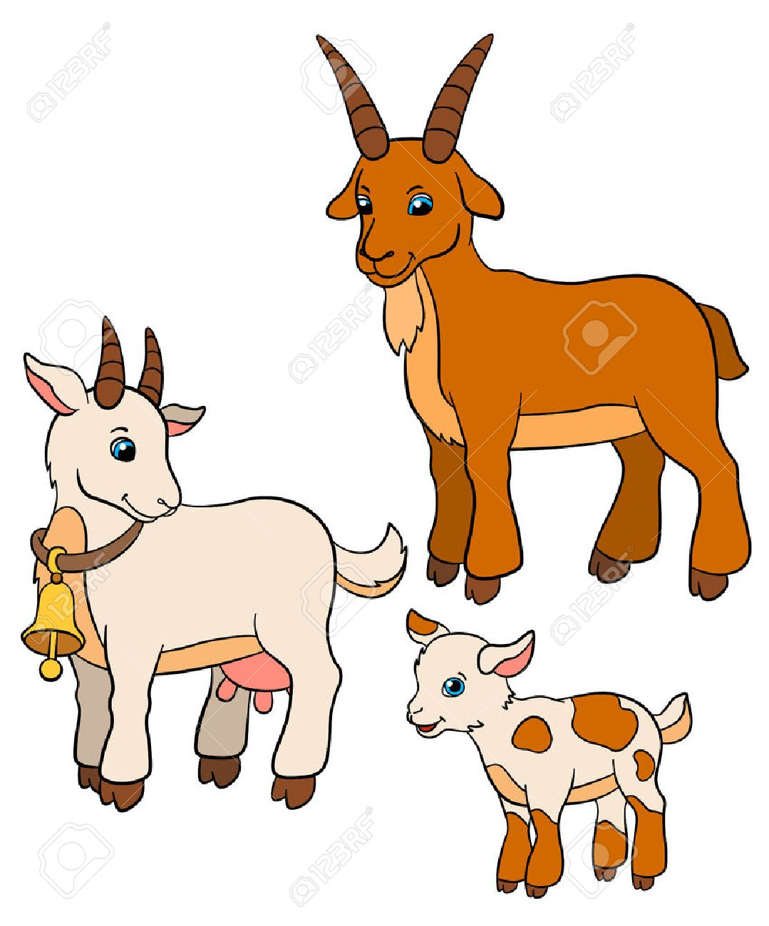 Cartoon Farm Animals For Kids Goat Family Father Mother And - Mother takes amazing pictures ever children animals farm