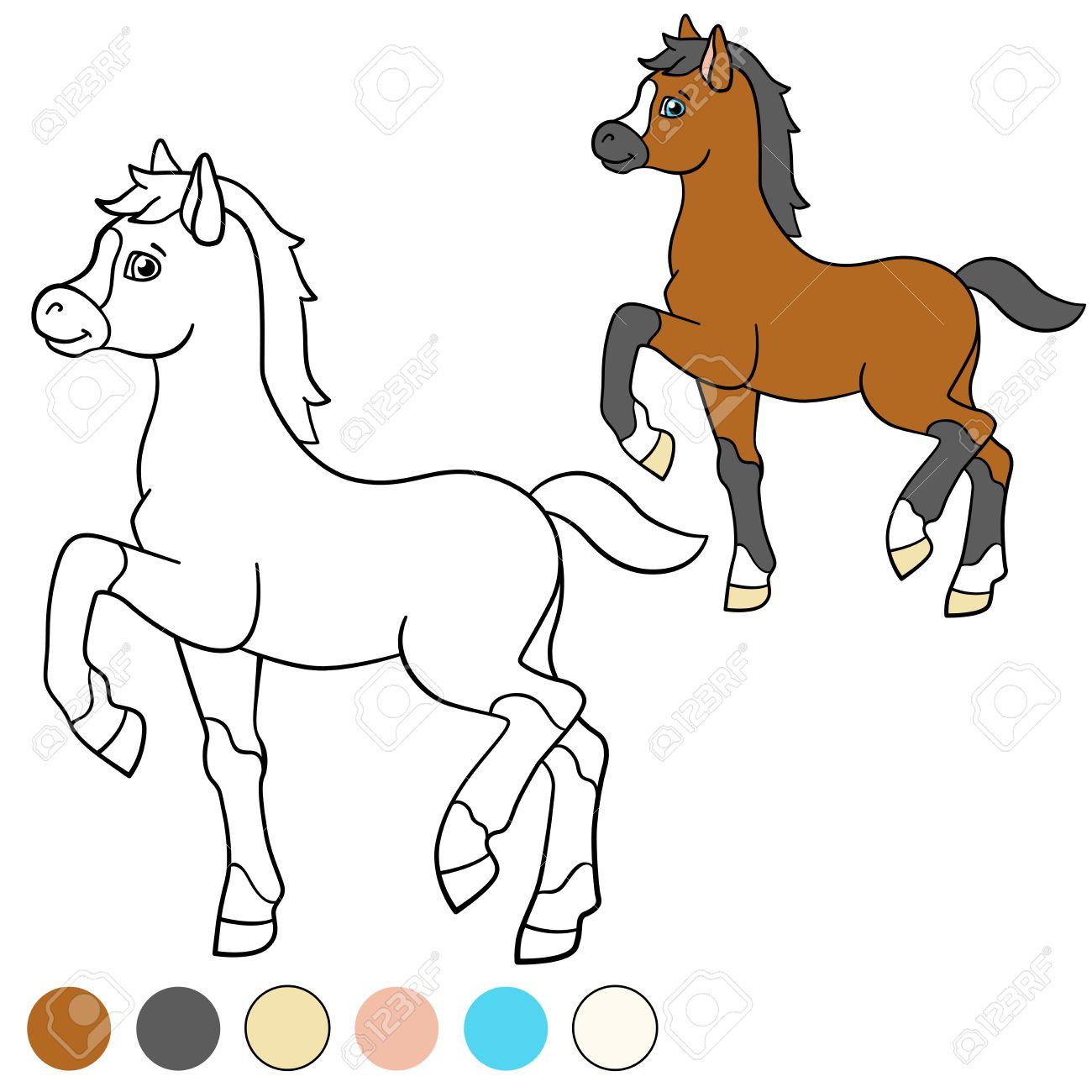 Kleurplaten En Zo Veulen.Geweldige Paard Met Veulen Kleurplaat Krijg Duizenden