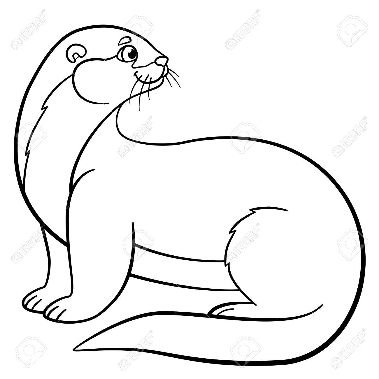 Northern Sea Otter coloring page   Free Printable Coloring Pages   1300x1300