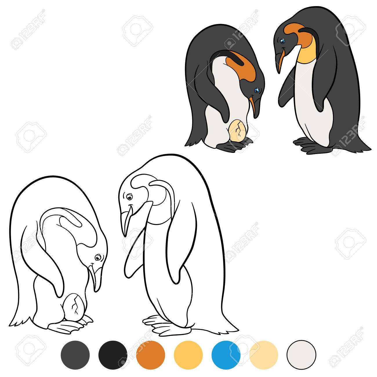 Único Libre Pinguino Para Colorear Imagen - Dibujos Para Colorear En ...