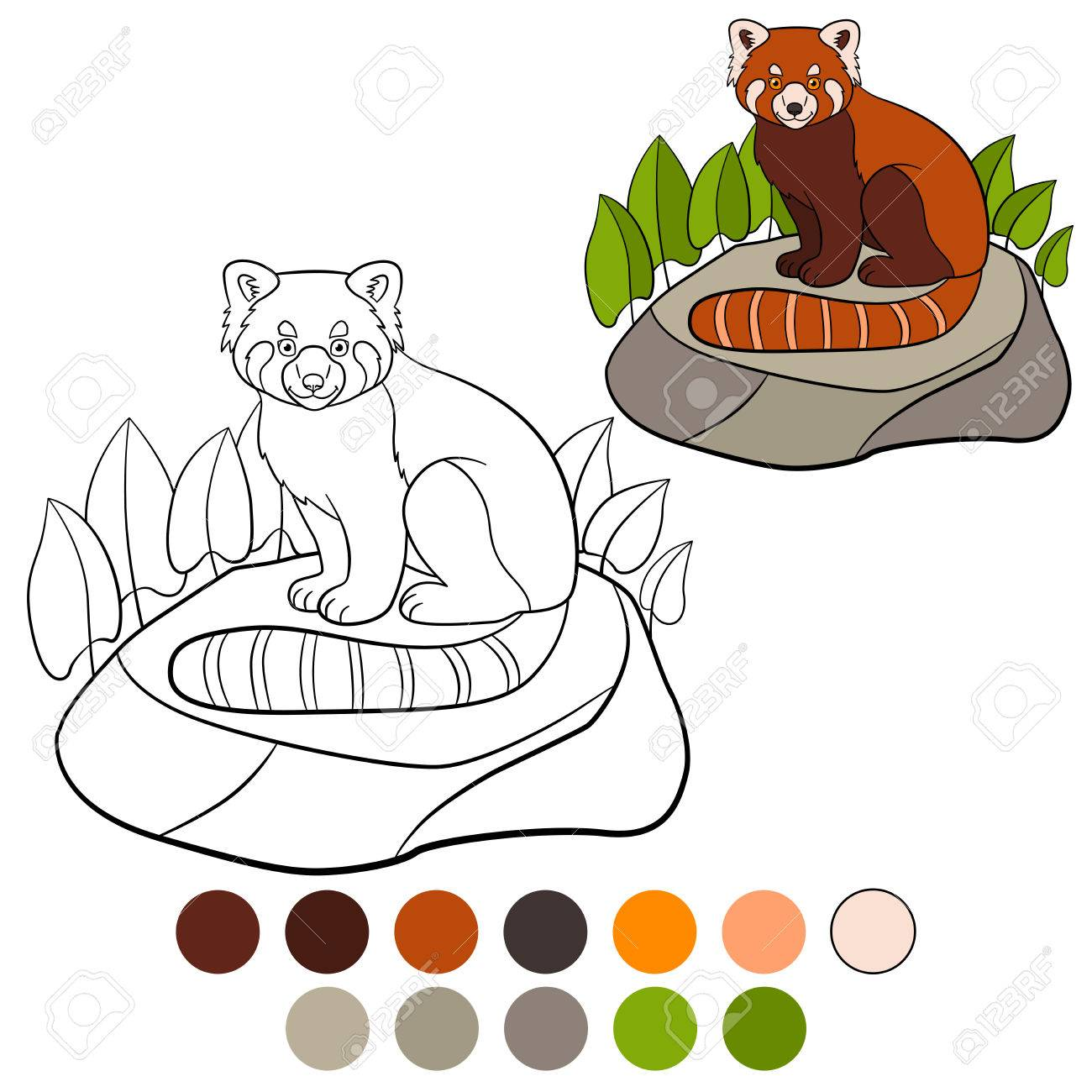 Ungewöhnlich Ausmalbilder Des Roten Pandas Galerie - Druckbare ...