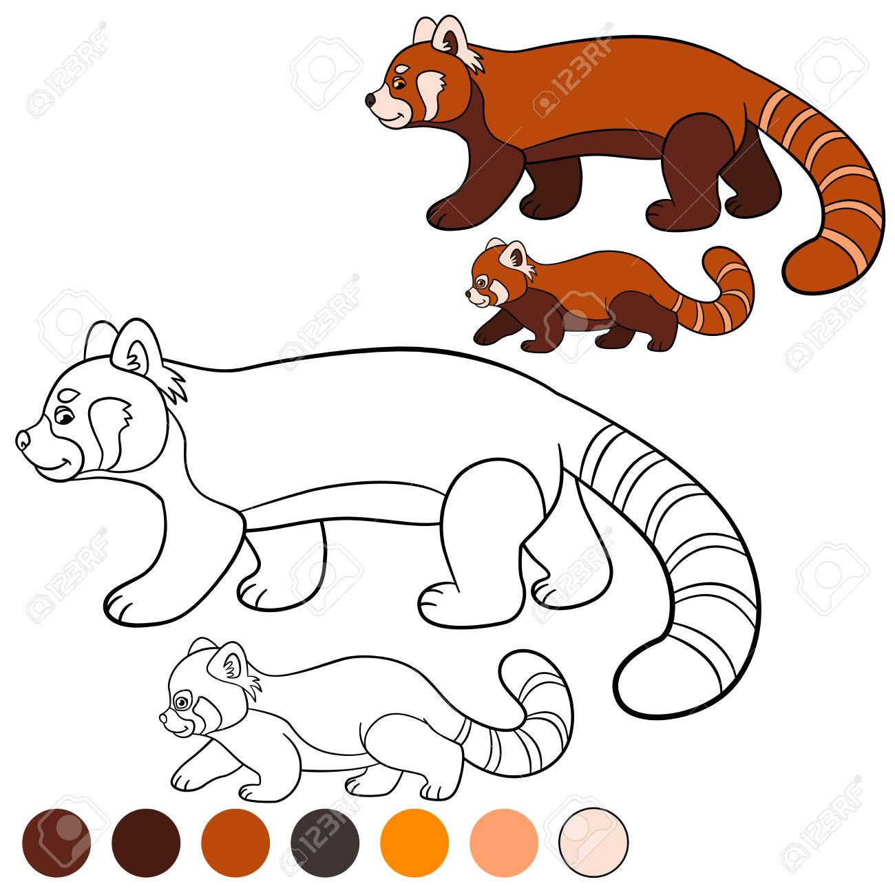 Coloriage Panda Roux Kawaii Coloriage Ideas
