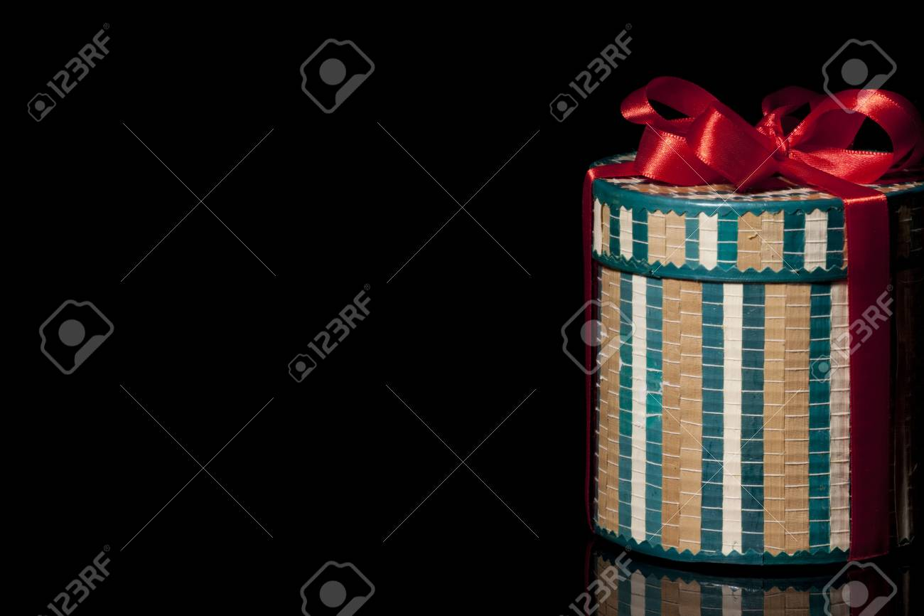 Tee box present on black background Stock Photo - 6058871