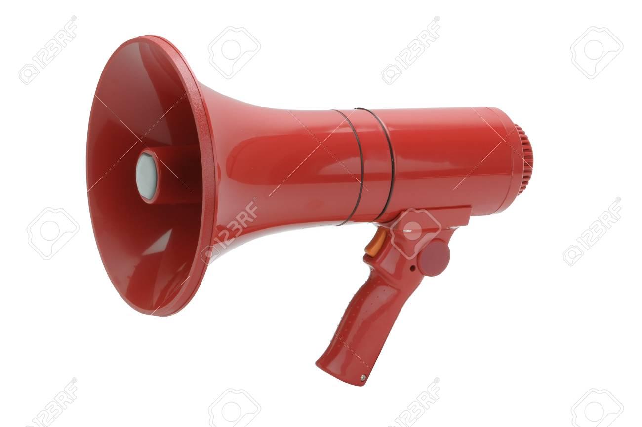 Red megaphone Stock Photo - 14091850