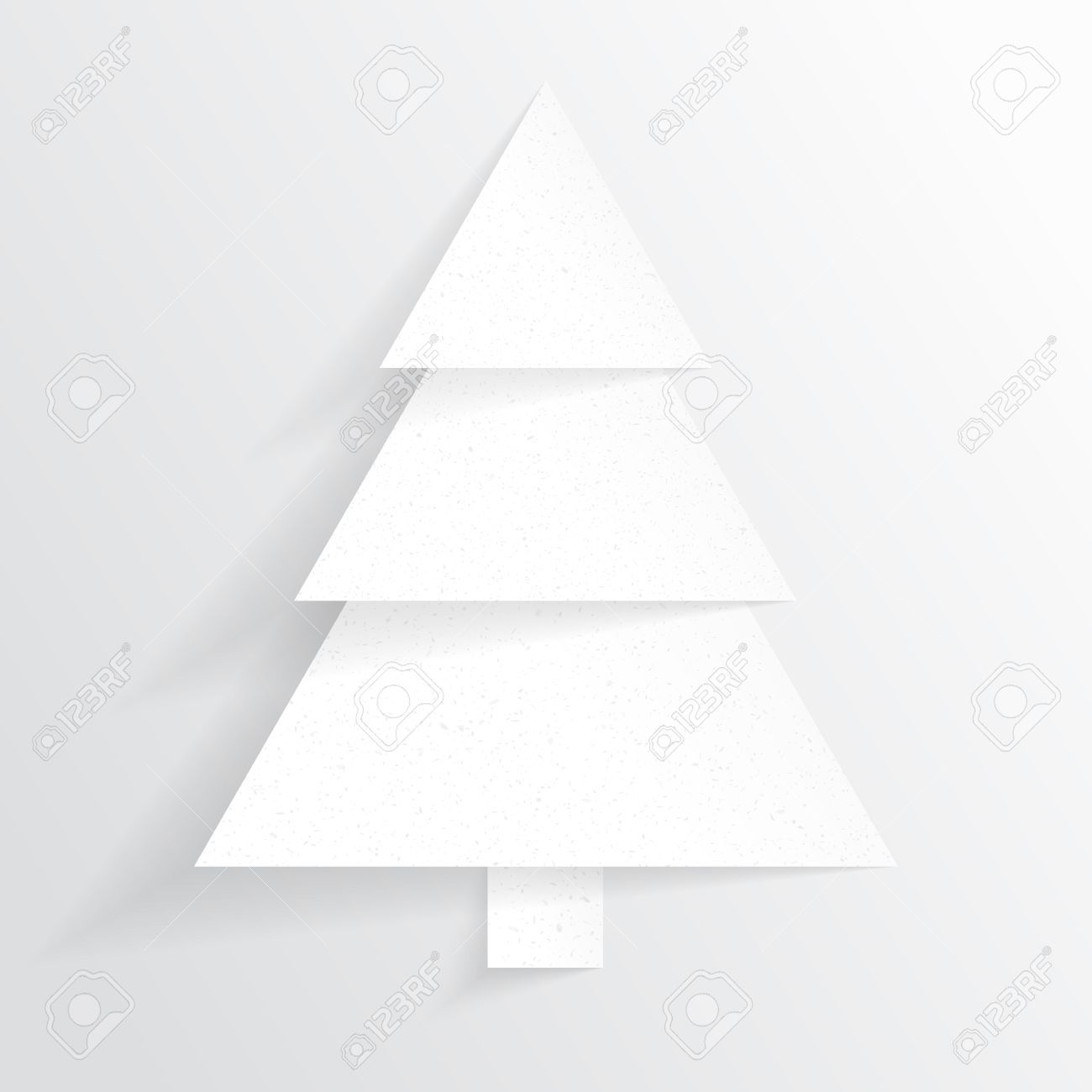 Paper Christmas tree  Christmas background  Christmas card  Happy New Year  Paper texture  Christmas origami  Christmas postcard Stock Vector - 16331713
