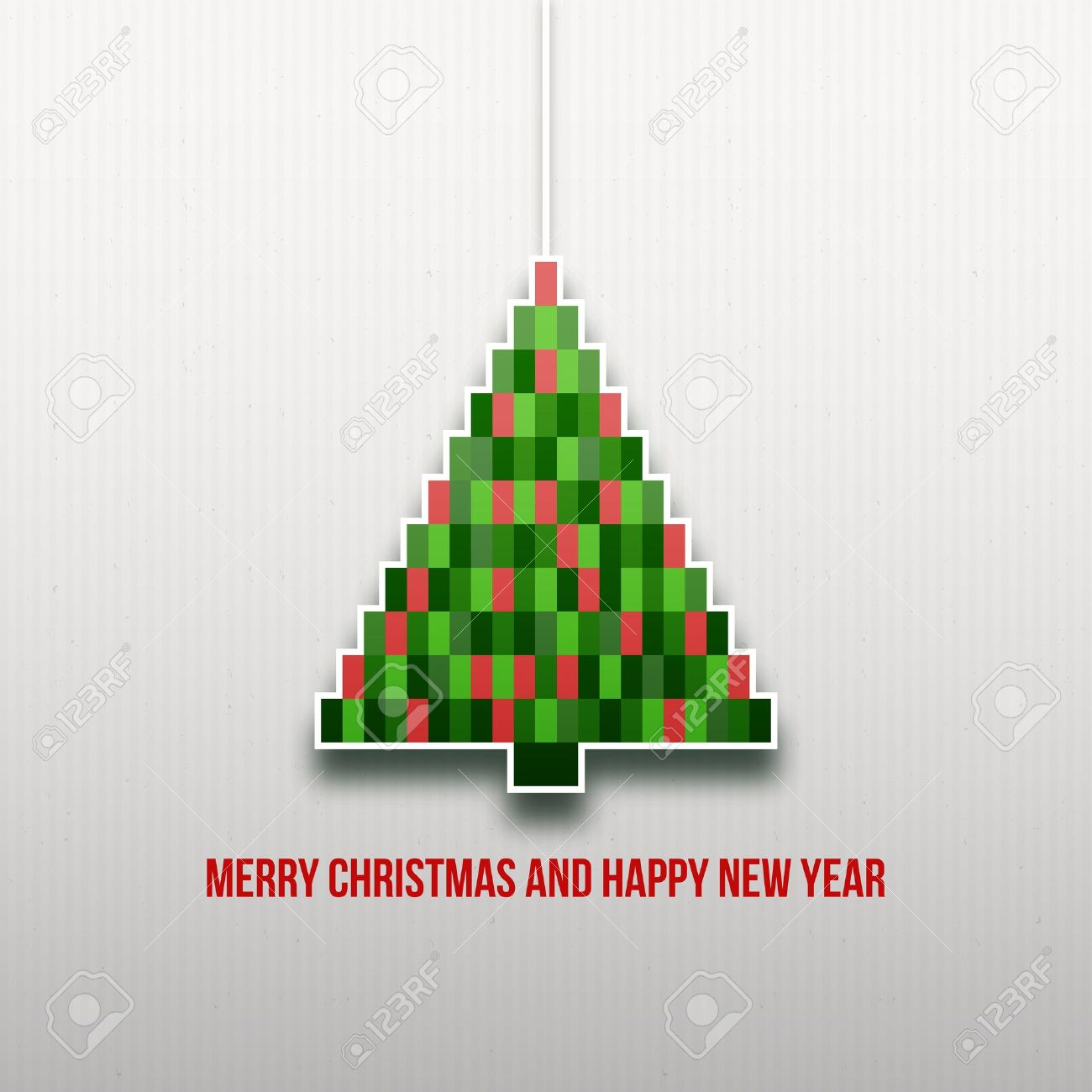 Paper Christmas tree  Christmas background  Christmas card  Happy New Year  Paper texture  Christmas origami  Christmas postcard Stock Vector - 16331719