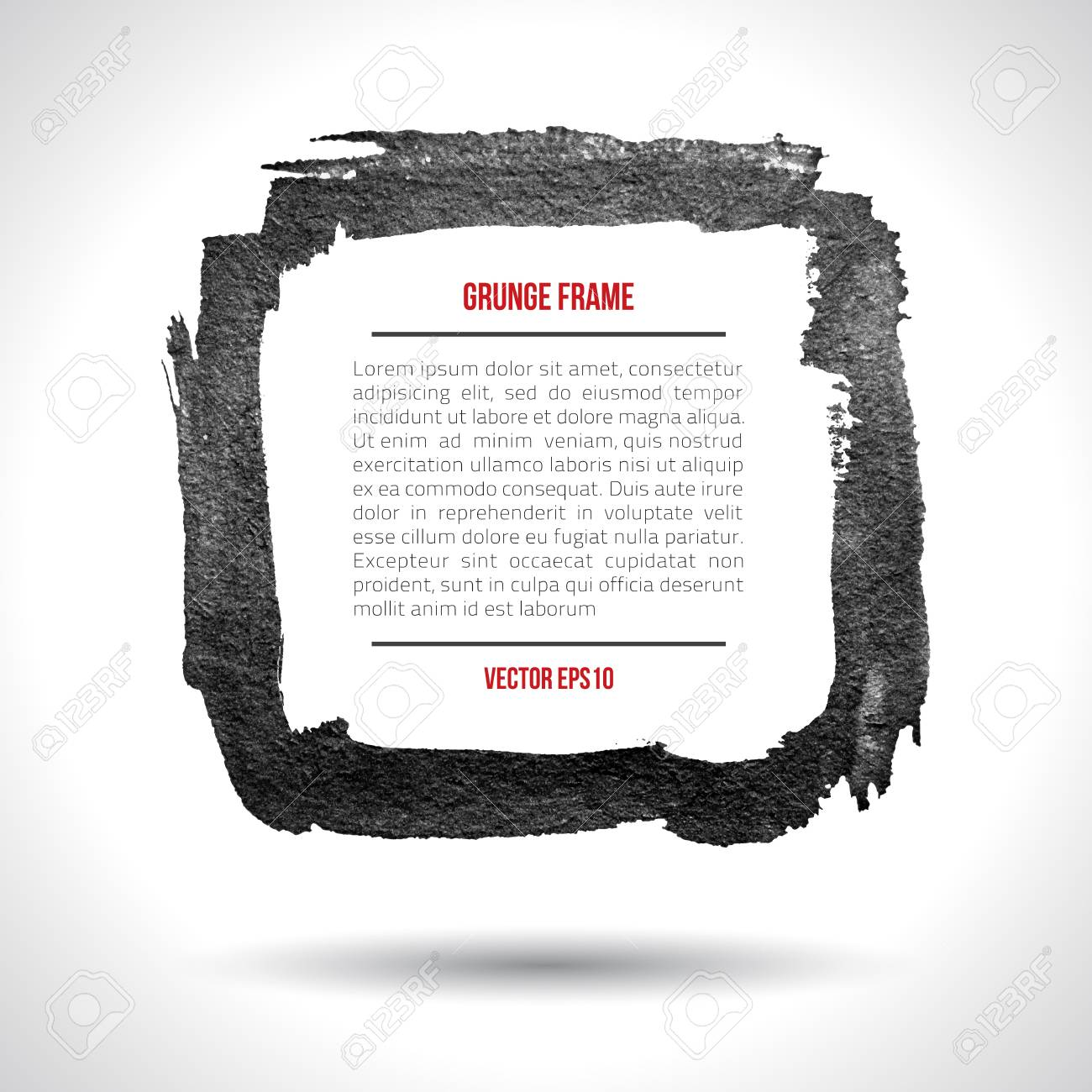 Grunge vector frame  Grunge background  Watercolor background  Retro background  Vintage background  Business background  Abstract background  Hand drawn  Texture background  Abstract shape Stock Vector - 16809741