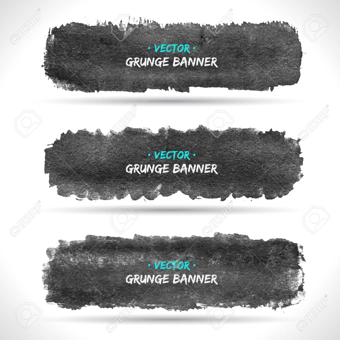 Set of grunge banners Stock Vector - 18393414
