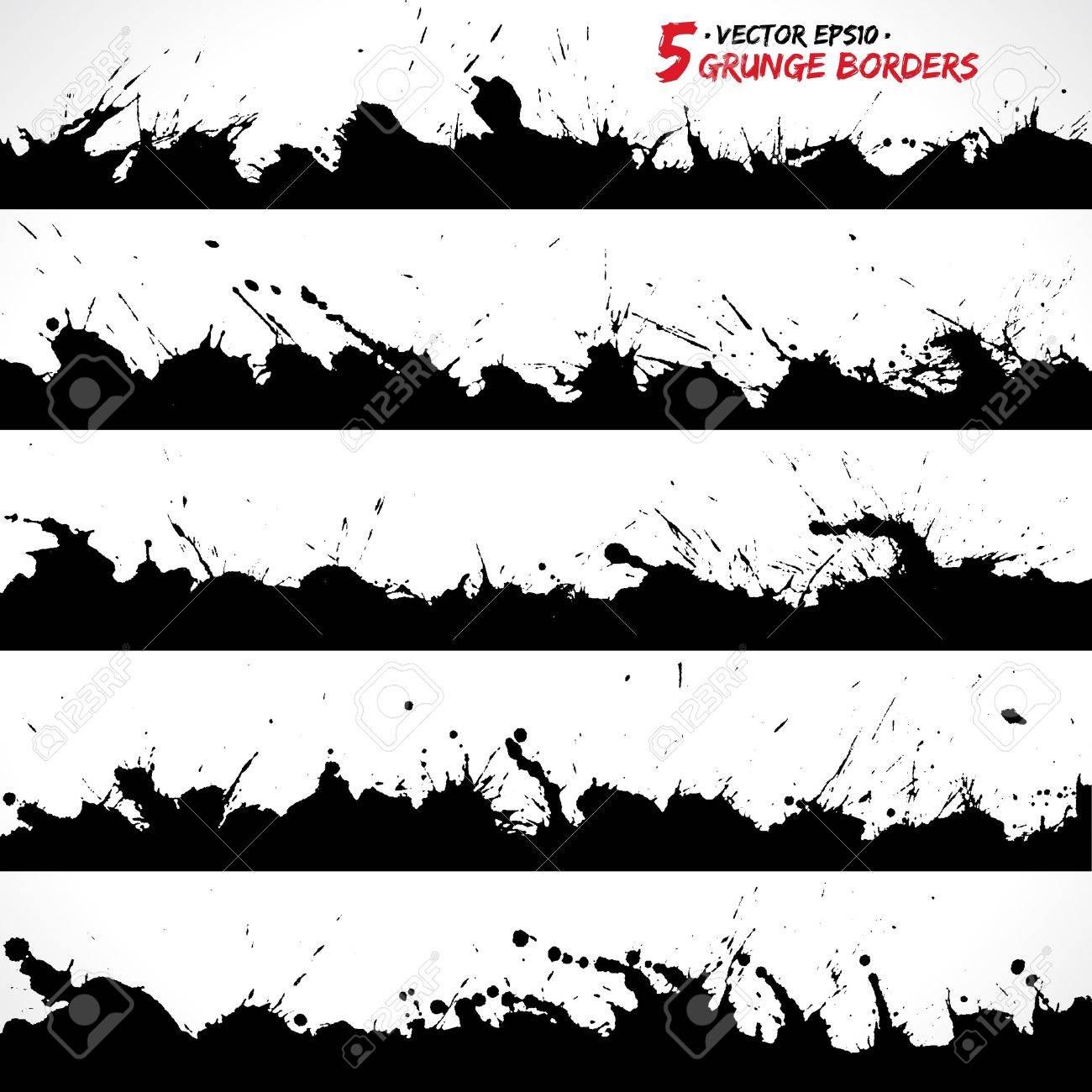 Set of grunge borders Stock Vector - 18393323