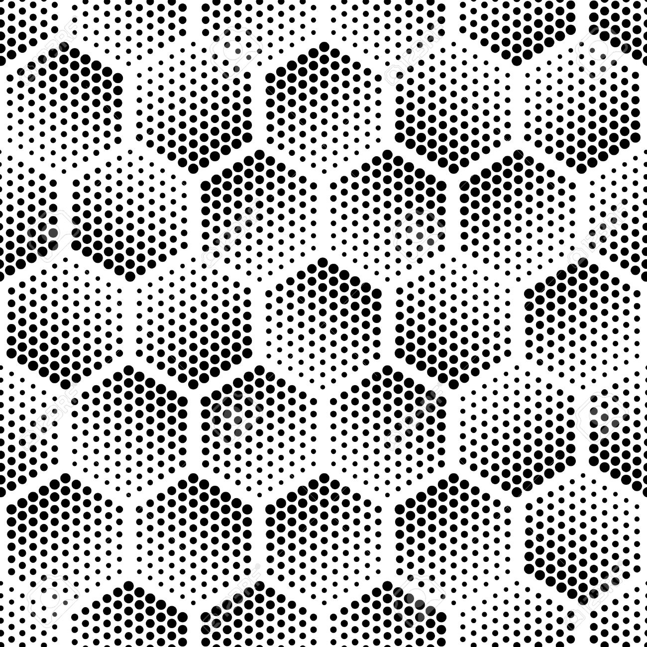 Vector geometric halftone seamless pattern. Retro pointillism vector seamless background. Vector old school design. Vector dotted texture - 56835679