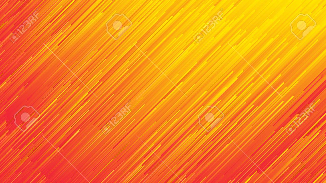 Dynamic Flow Bright Vivid Orange Red Gradient Lines Abstract Background In Ultra High Definition Quality. Digital Glitch Conceptual Art Illustration - 122319837