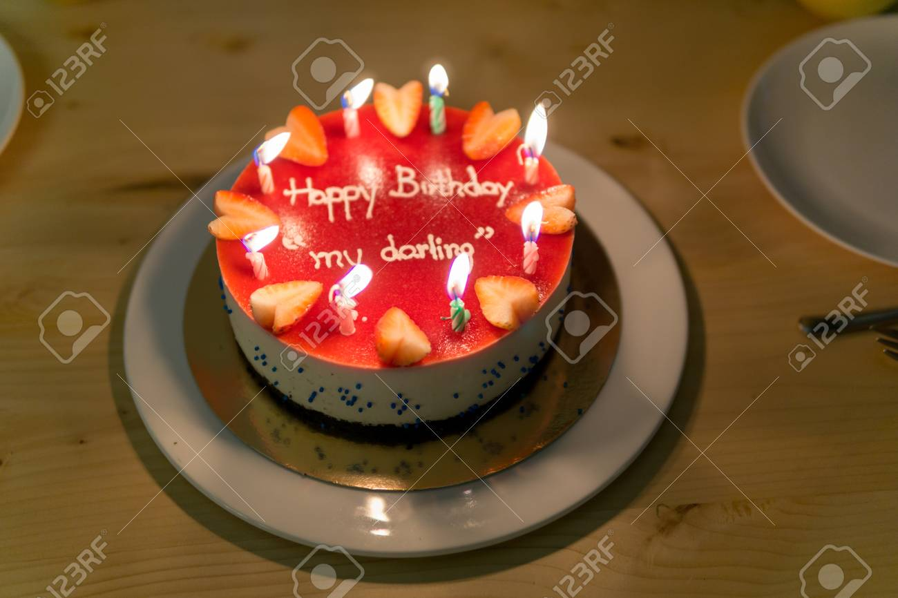 Fabulous Happy Birth Day Blueberry Cheese Cake For Lover Or Darling With Funny Birthday Cards Online Alyptdamsfinfo