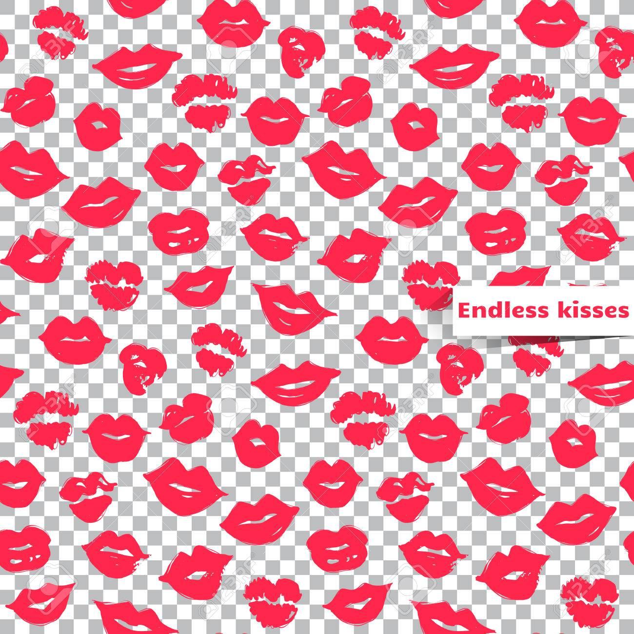 透明な背景にシームレスなパターンをピンクの唇 ベクター女性の唇 カラフルなイラストは 創造的な背景 ファッションのスタイリッシュな壁紙 流行のスタイルの流行と魅力のデザイン 明るく印刷を繰り返しのイラスト素材 ベクタ Image 7353
