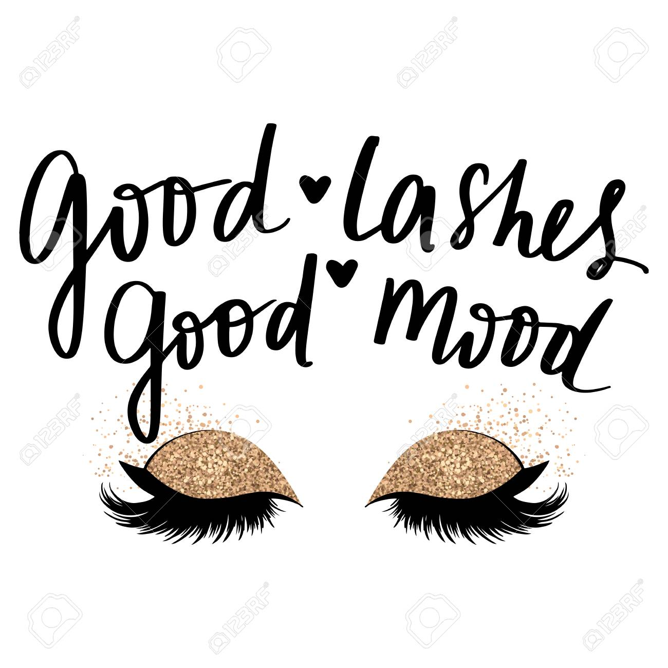 Hand Sketched Lashes Quote Calligraphy Phrase For Beauty Salon Royalty Free Cliparts Vectors And Stock Illustration Image 121856921