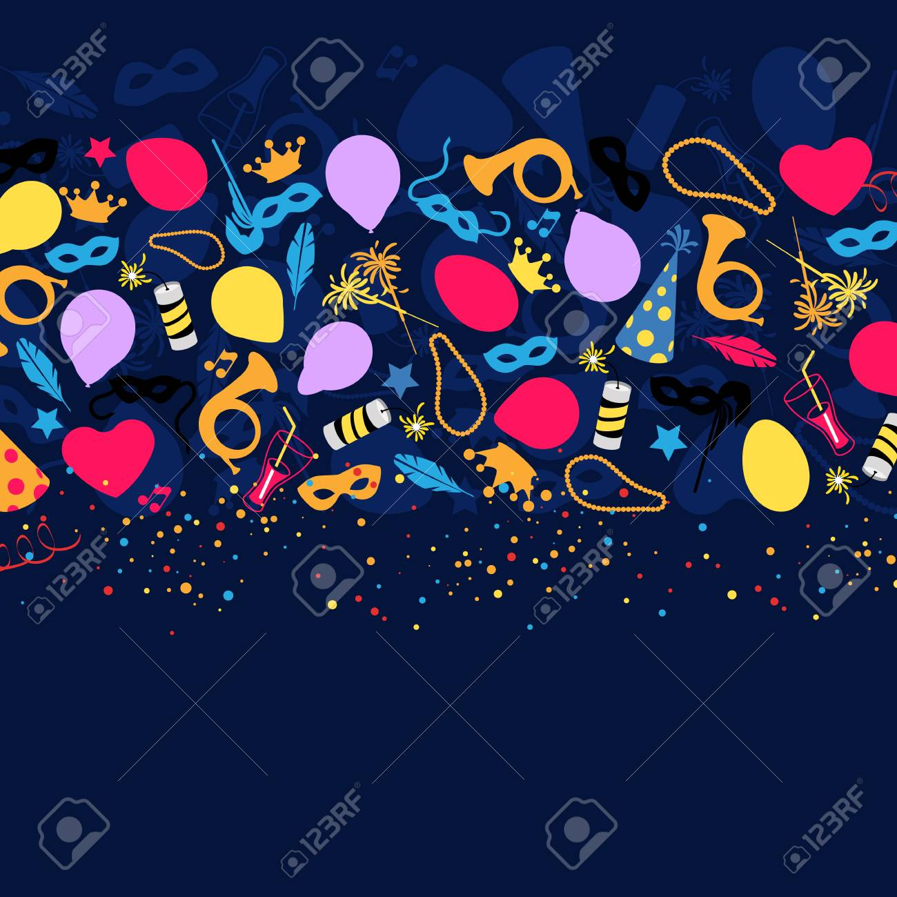 Carnival, Festival, Party, Birthday Decoration, Vector - 44037200