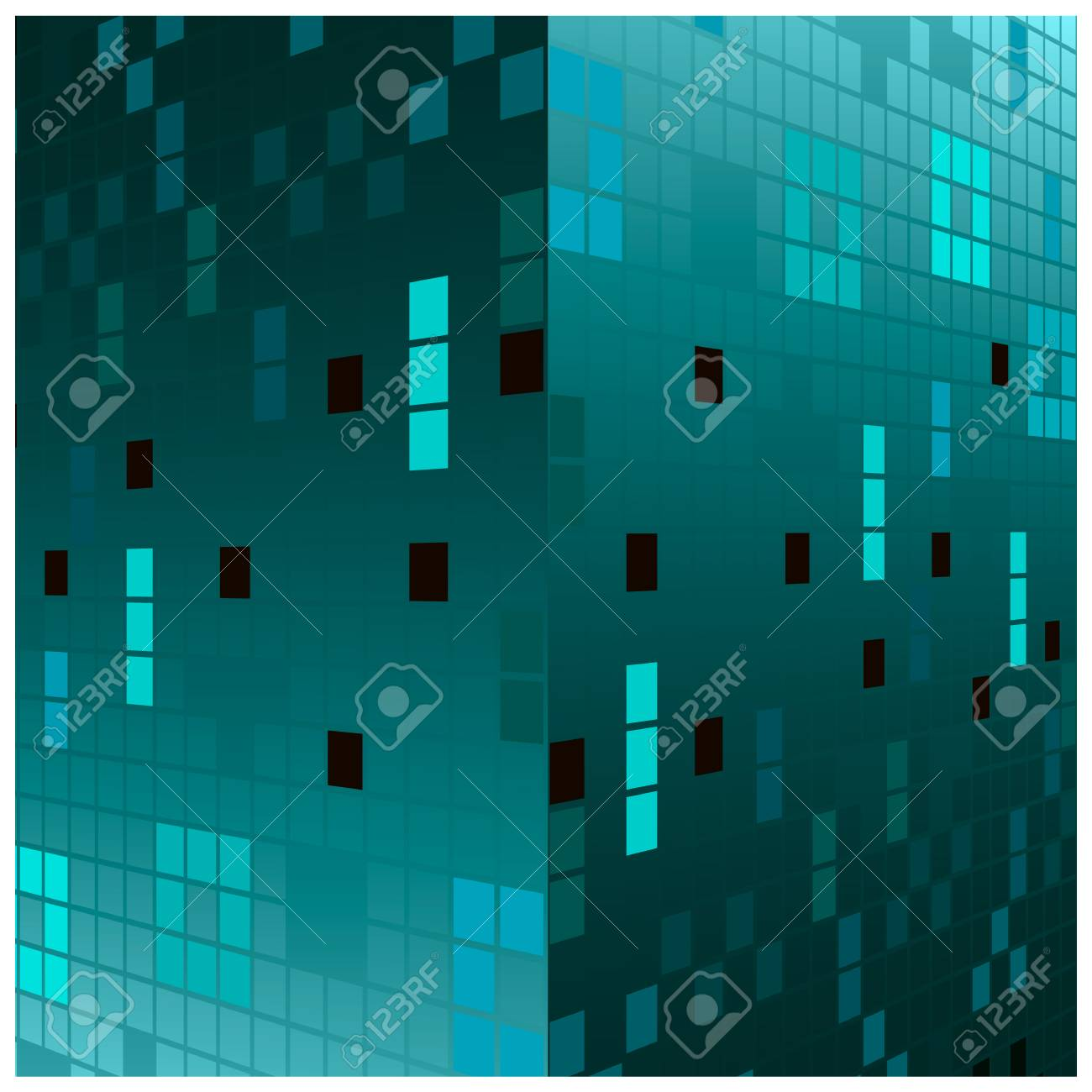 vector background with geometric objects - 58014932