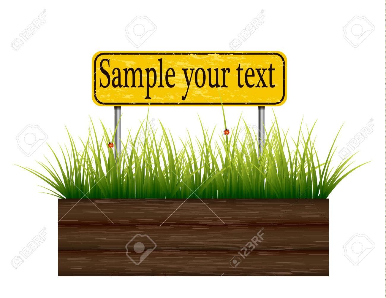 Empty billboard grass below. - 59134028