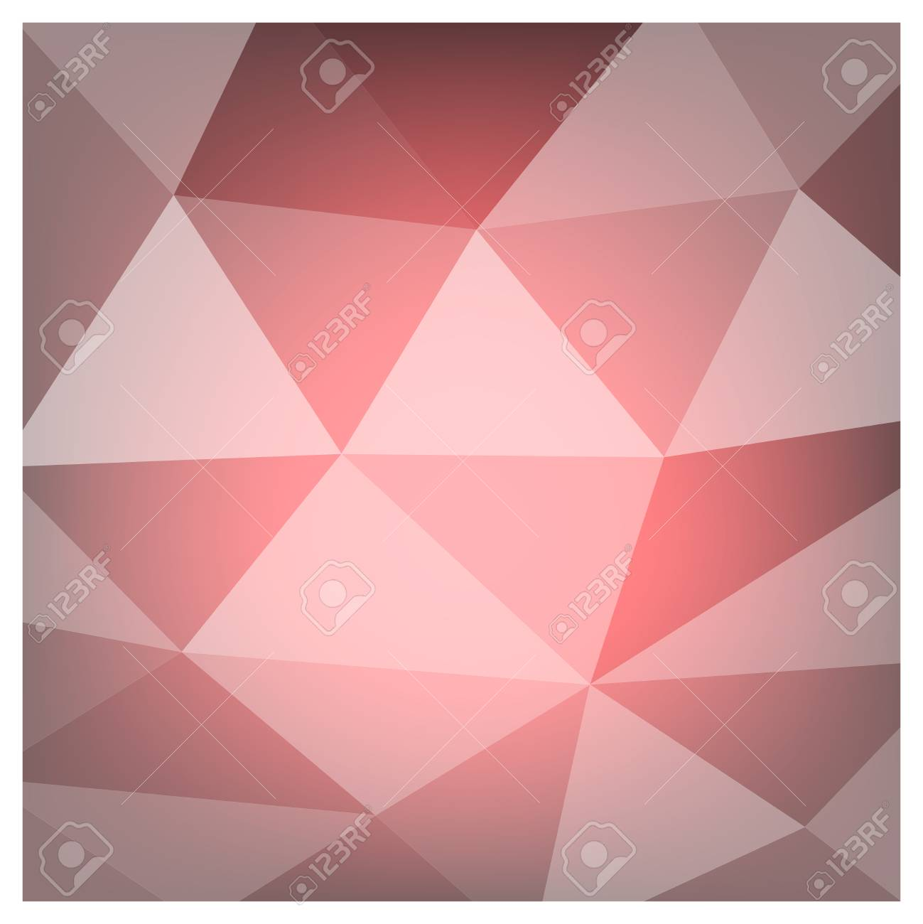 Red White Polygonal Mosaic Background, Vector illustration, Creative Business Design Templates - 61023765