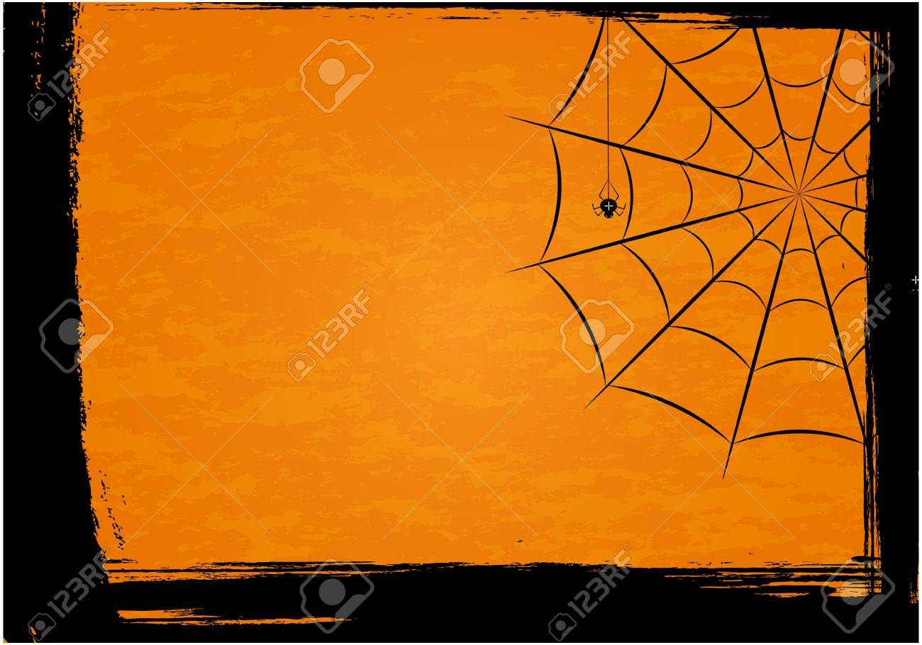 Background with spiders and web - 61954188