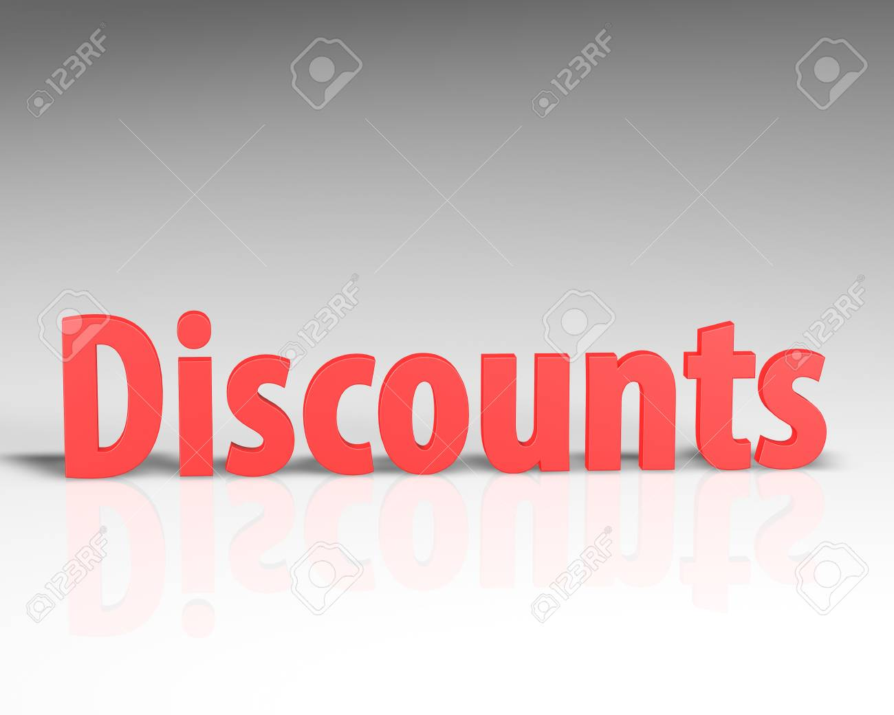 3D DISCOUNT word on white background 3d rendering - 66024502