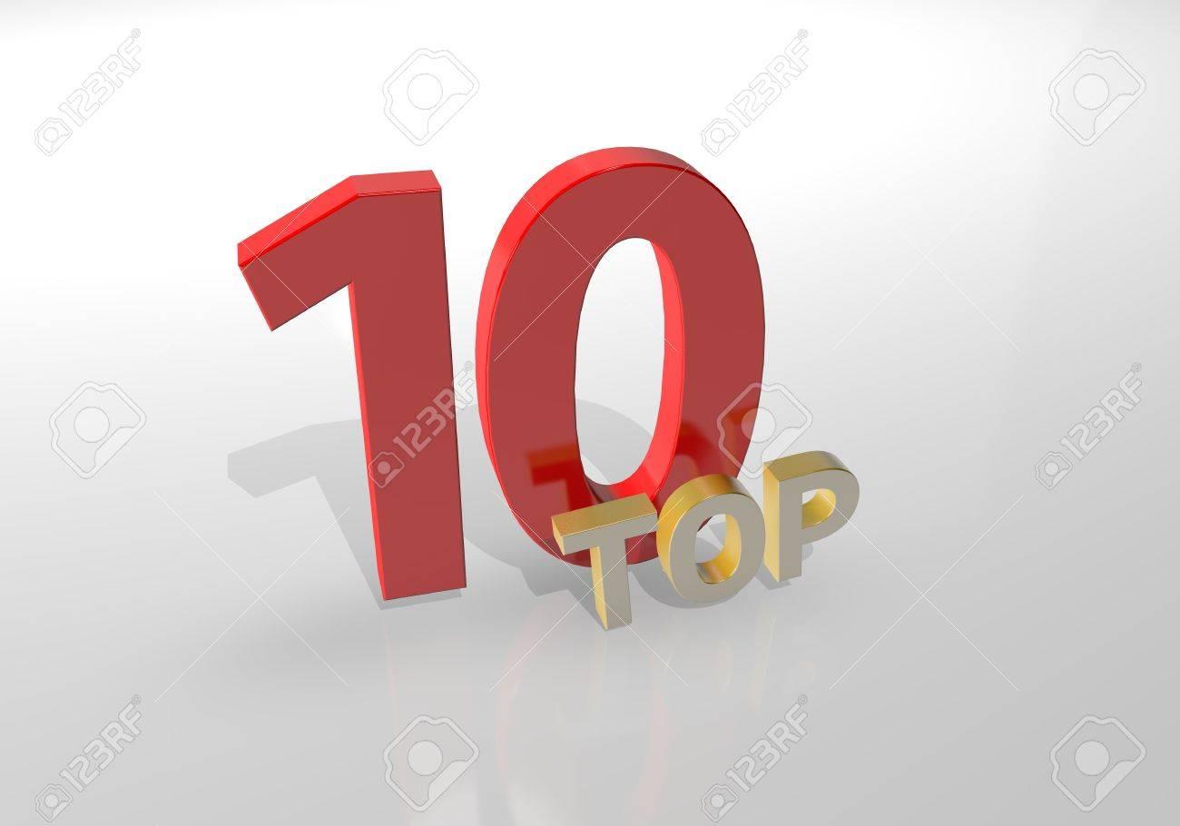 Top 10. Ten. 3D illustration. - 66024531